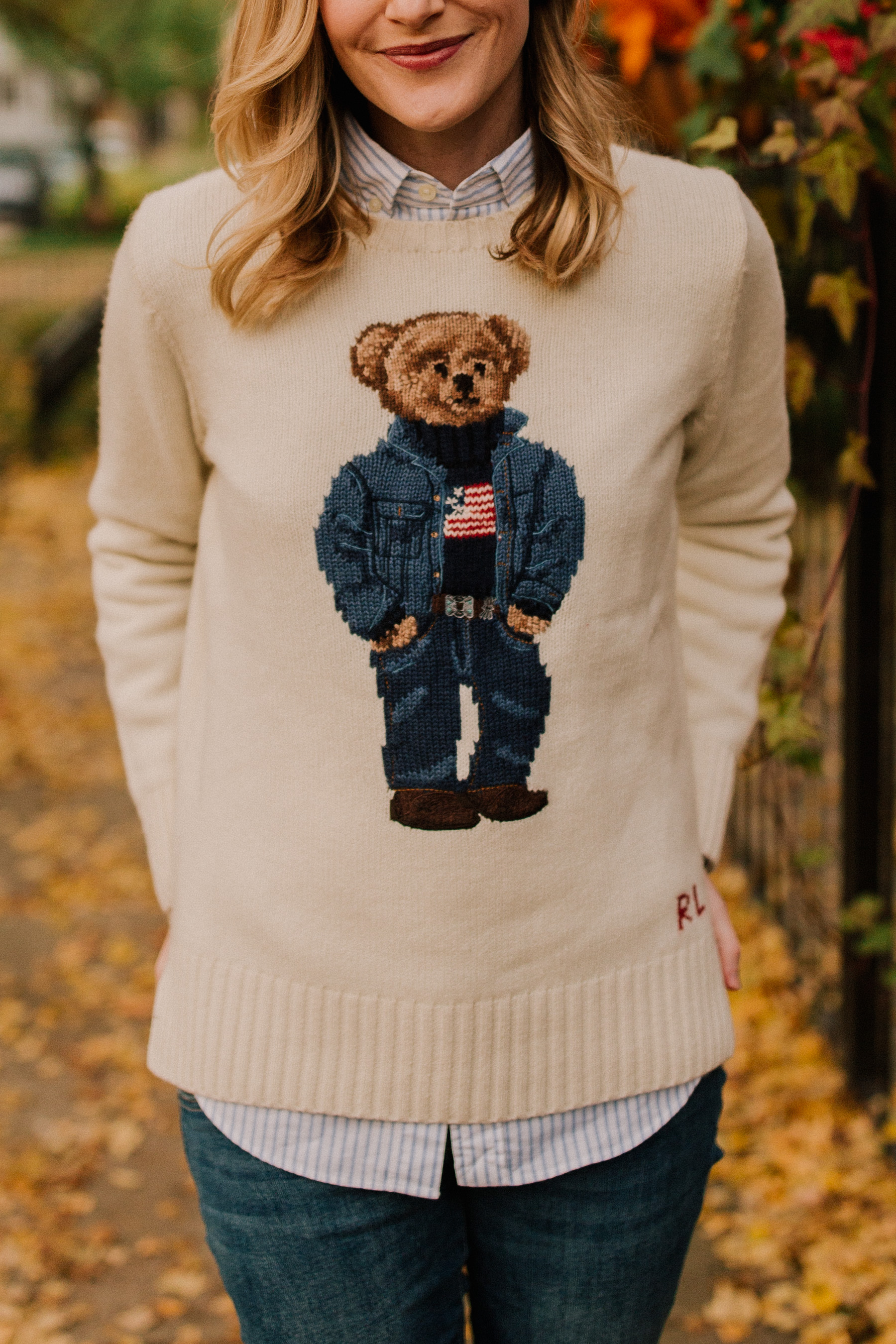 POLO RALPH LAUREN Polo Bear Wool-Blend Sweater