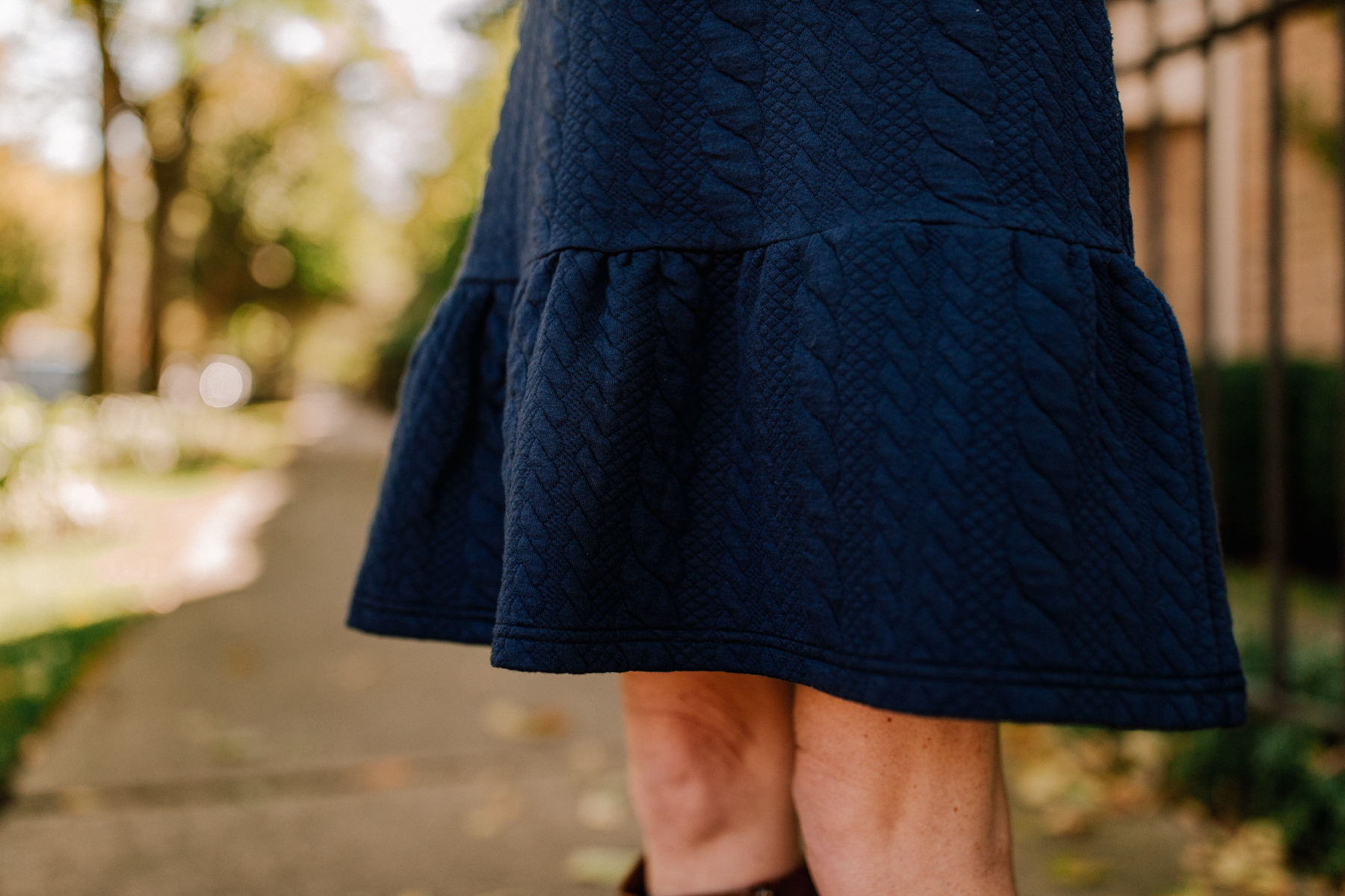 Sail to Sable Navy Cable-Knit Dress