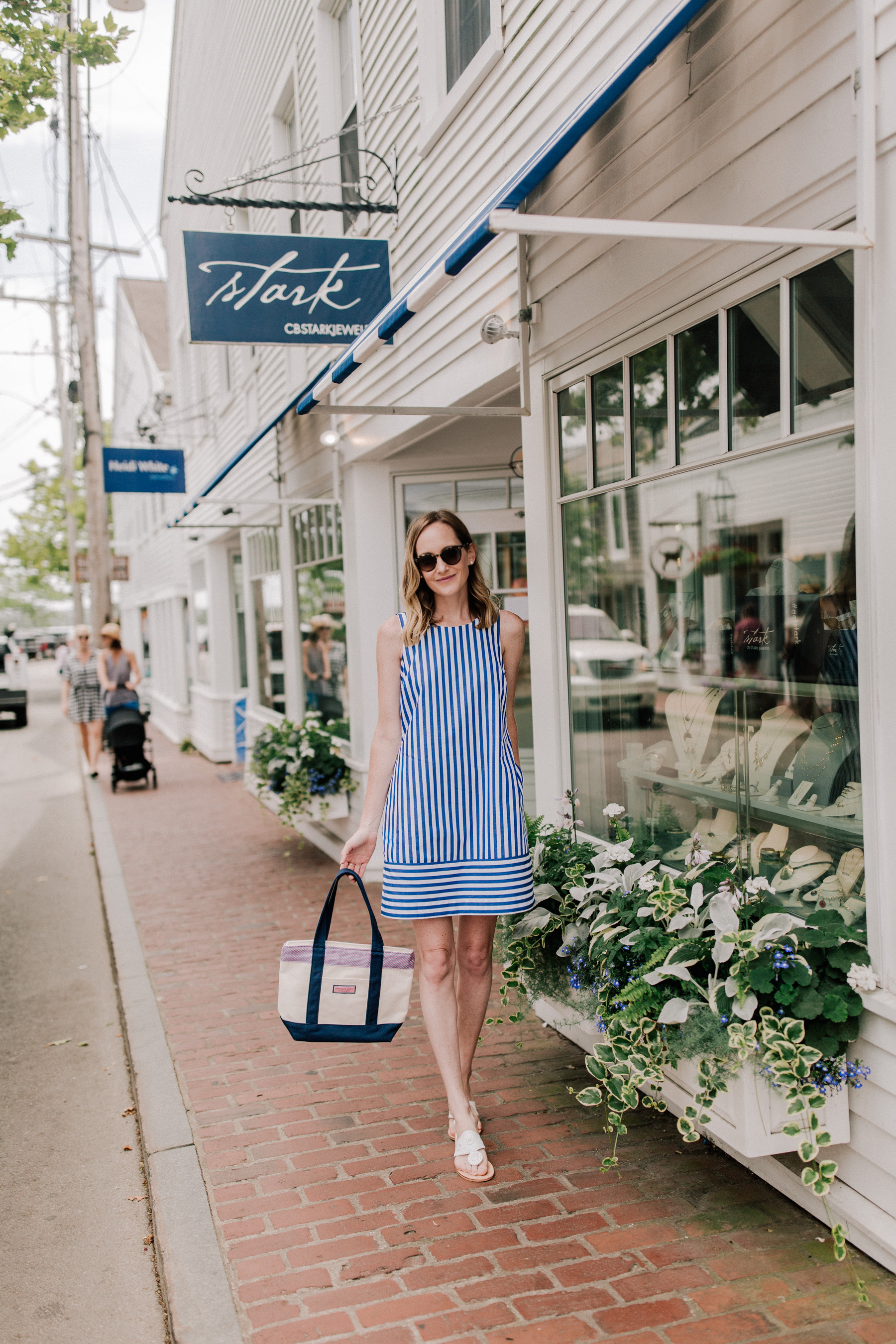 Bow Back Dress / Vineyard Vines Tote Bag