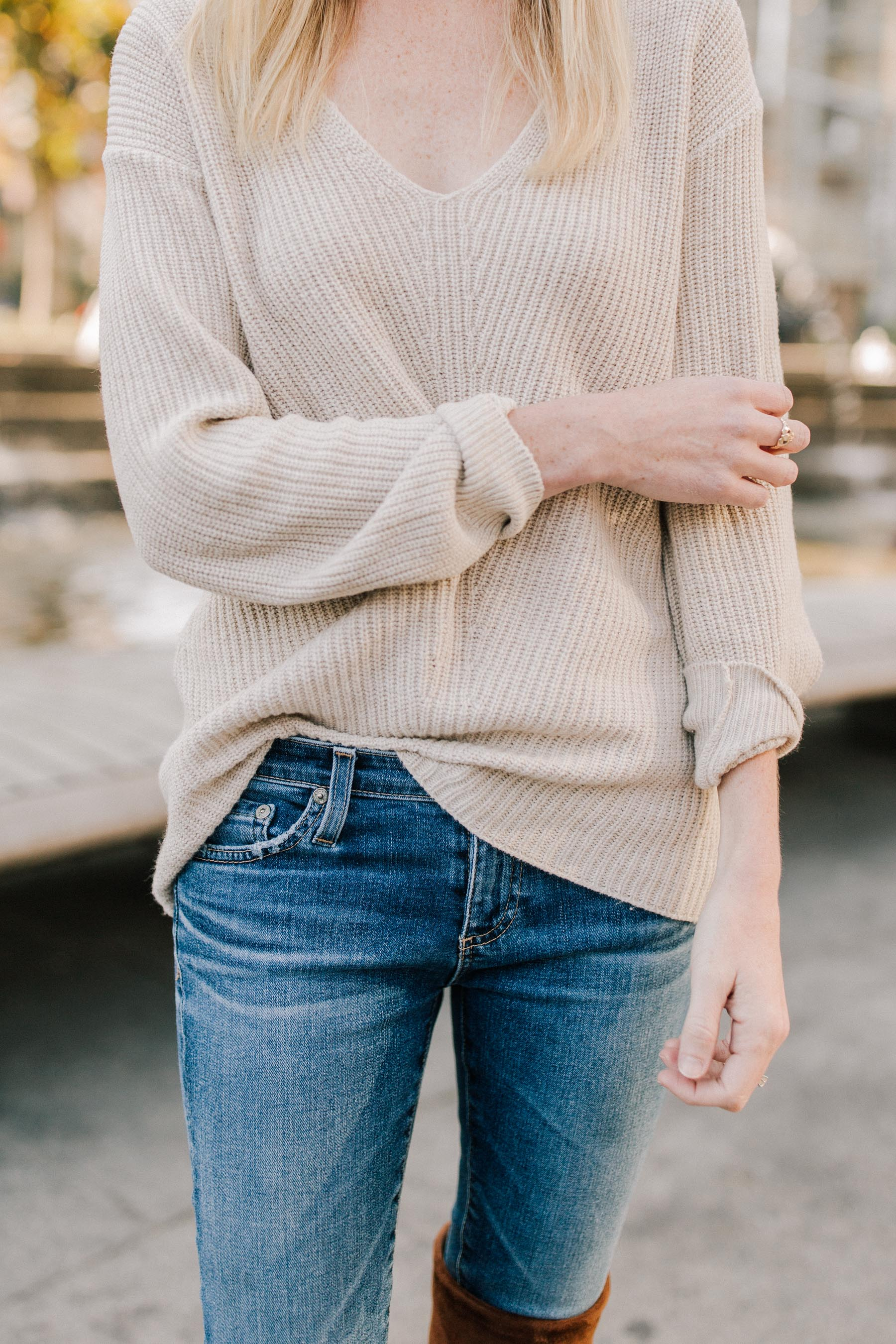 Sweater and AG jeans