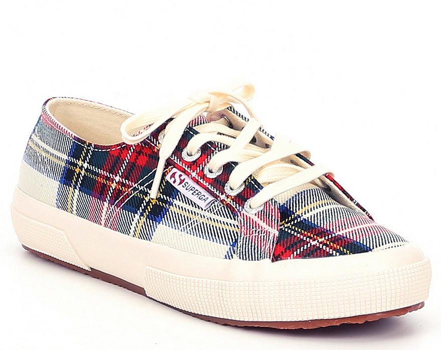 Lord & Taylor via Walmart: Superga Tartan Sneakers