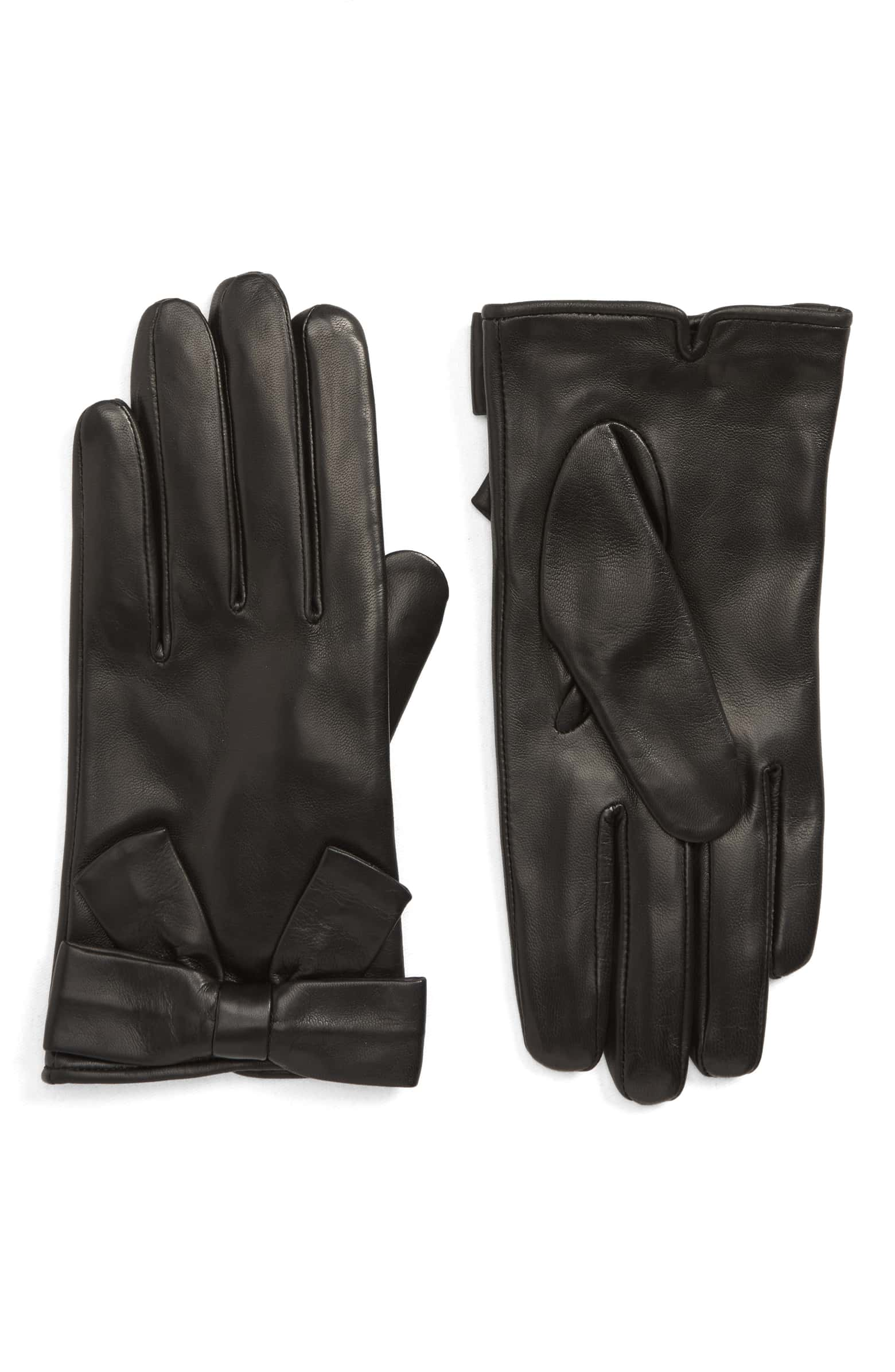 Nordstrom: Leather Bow Gloves