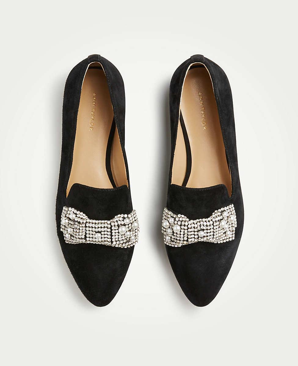 Ann Taylor: Sparkly Bow Flats