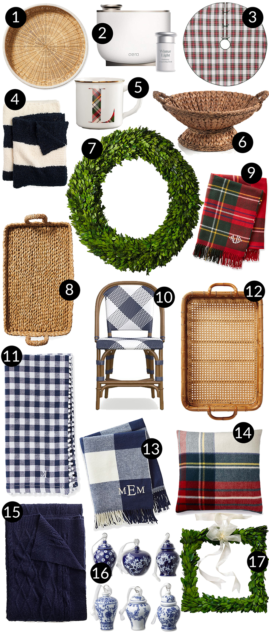 Preppy Holiday Home Gift Guide & Area