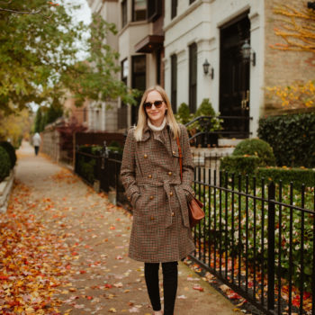 Herringbone Wool Trench on Sale