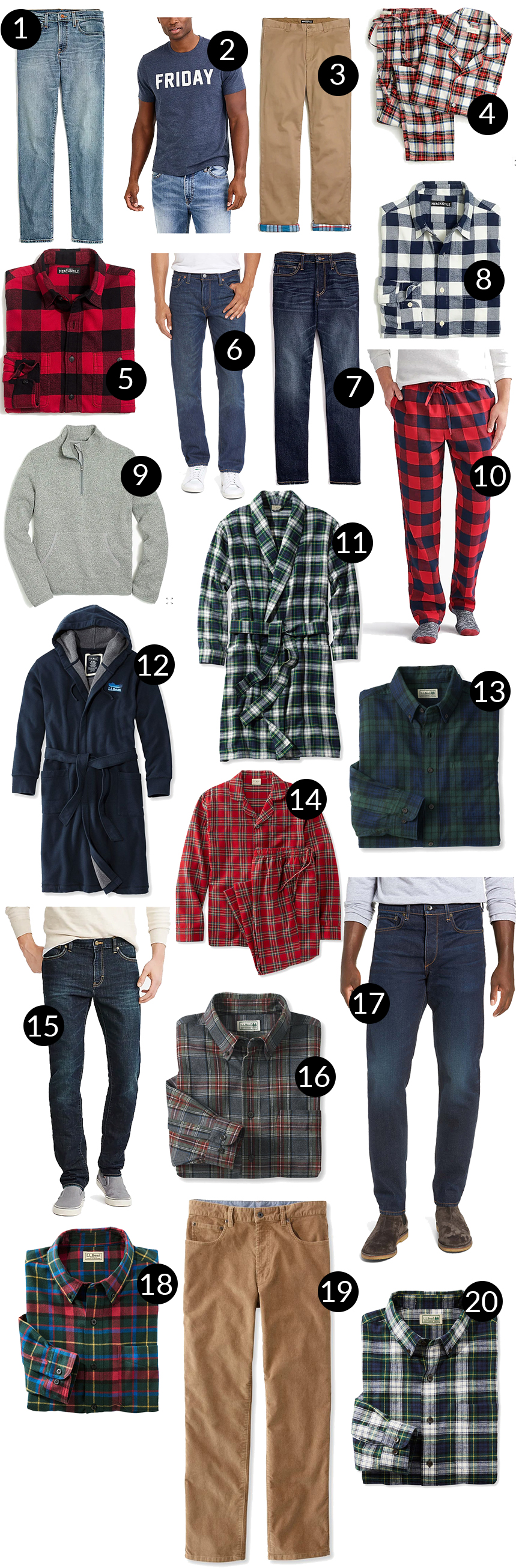 Mens Holiday Gift Guide - Shirts and Pants