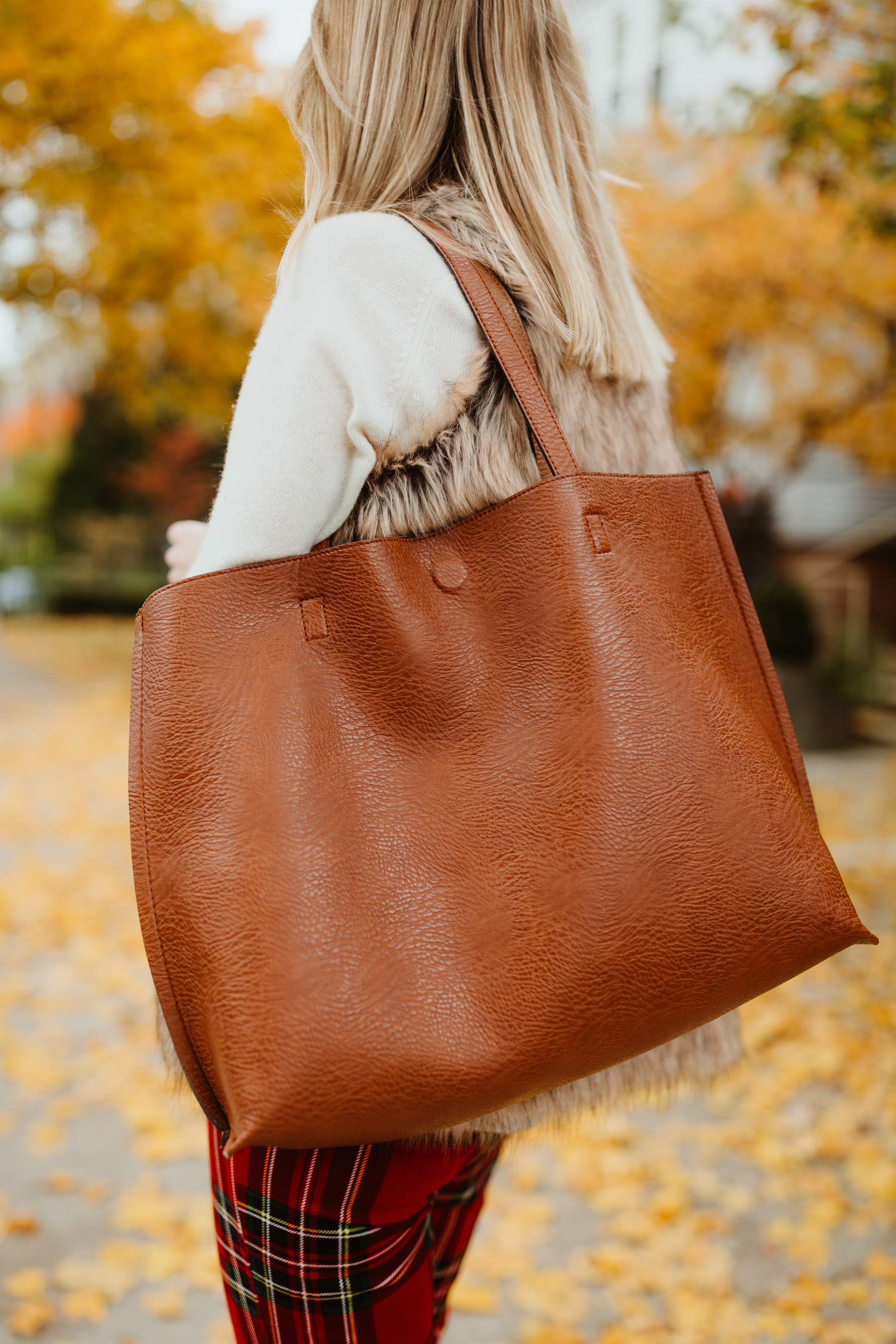 $48 Faux Leather Tote