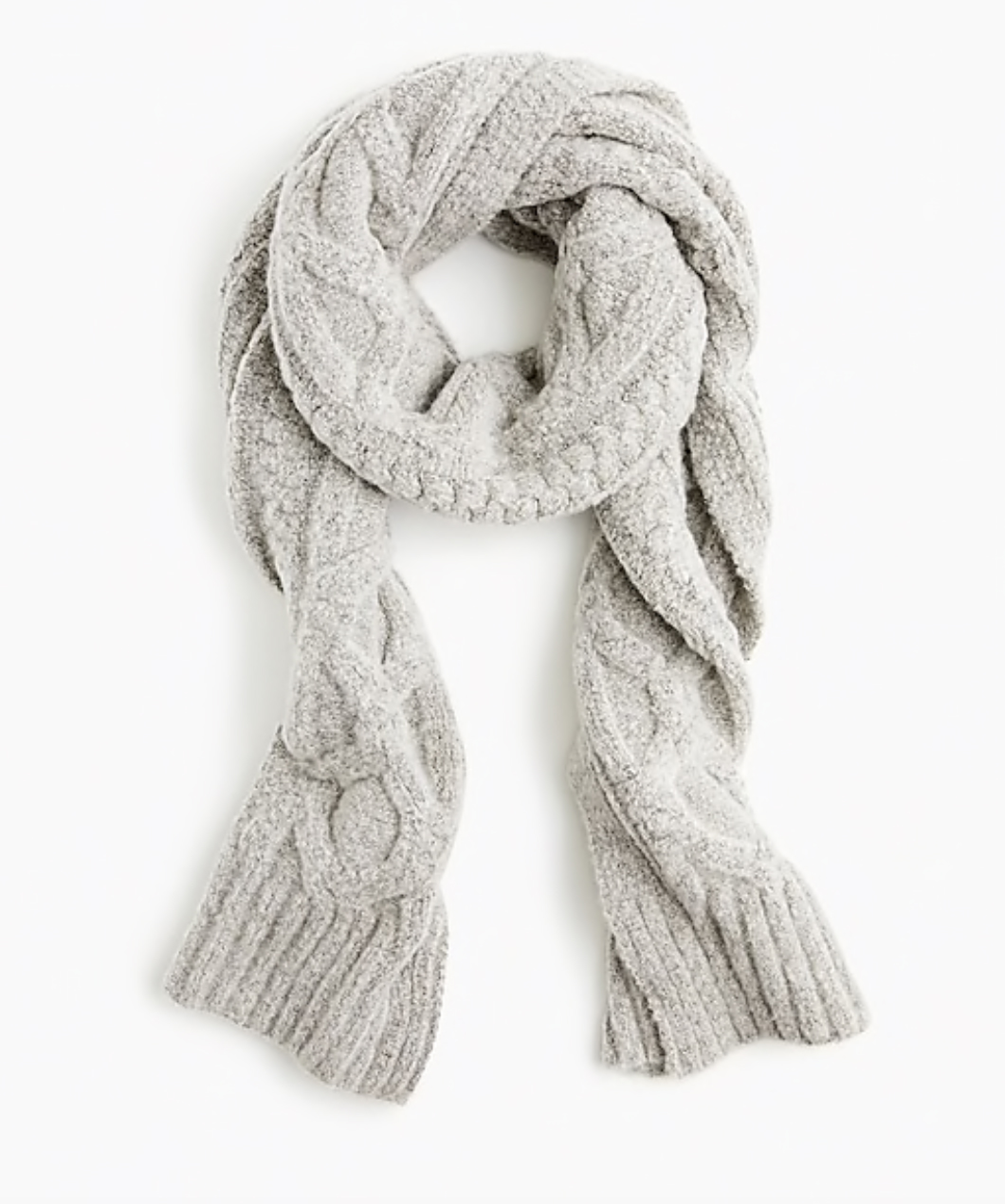 J.Crew: Oversized Cable-Knit Scarf