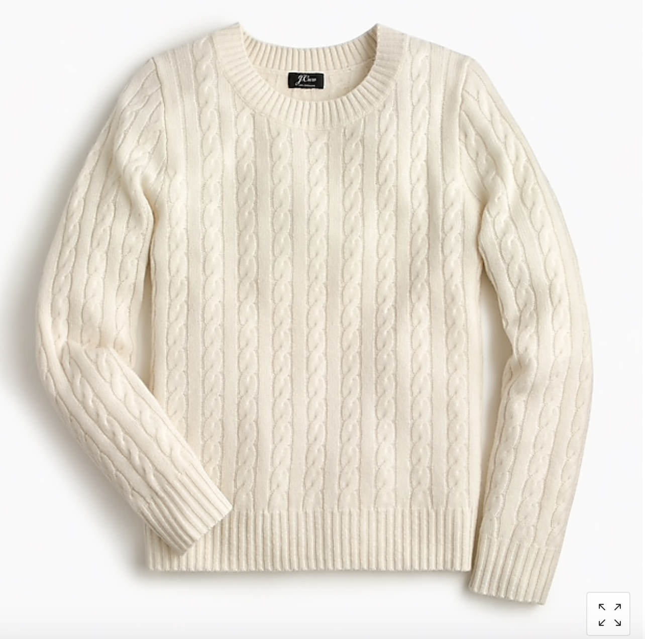 J.Crew: Cable-Knit Cashmere Sweater