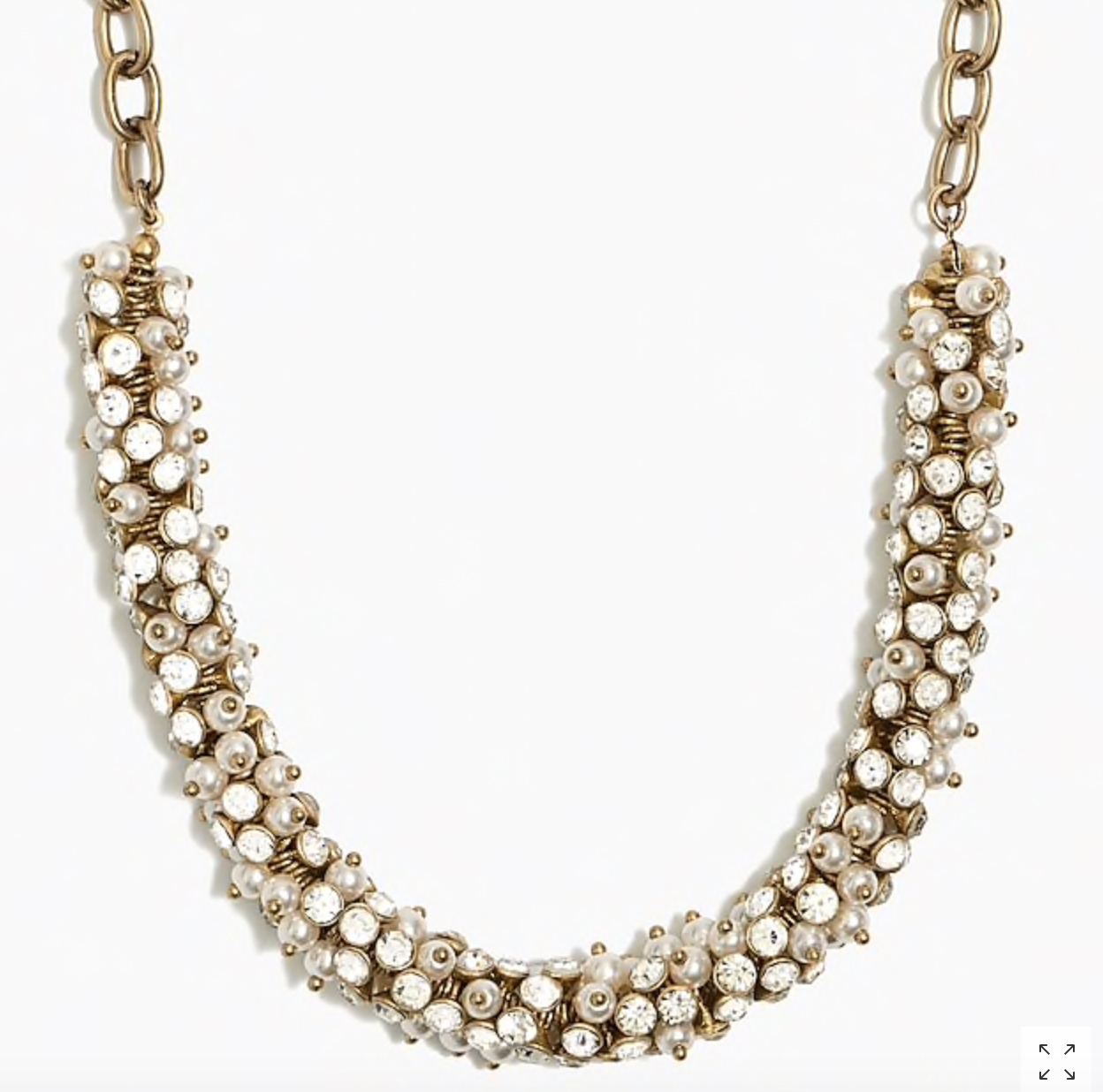 J.Crew Factory: Crystal Wreath Necklace