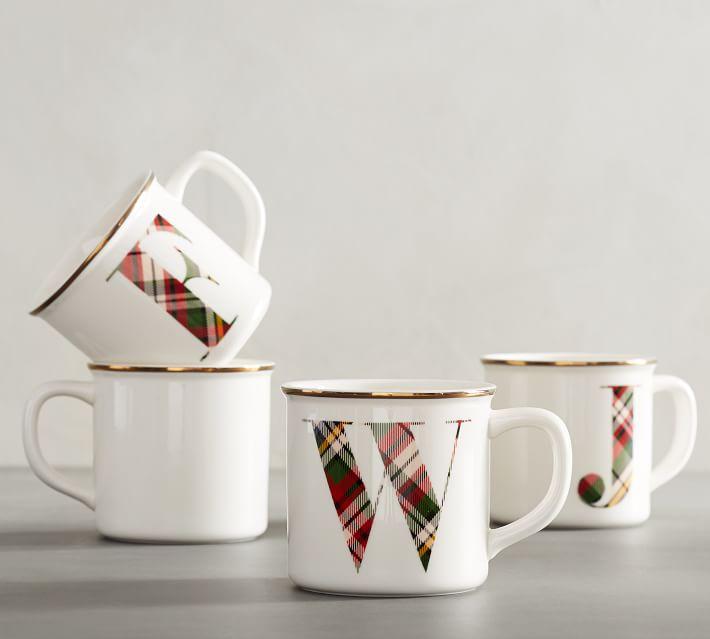 Pottery Barn: Plaid Mug