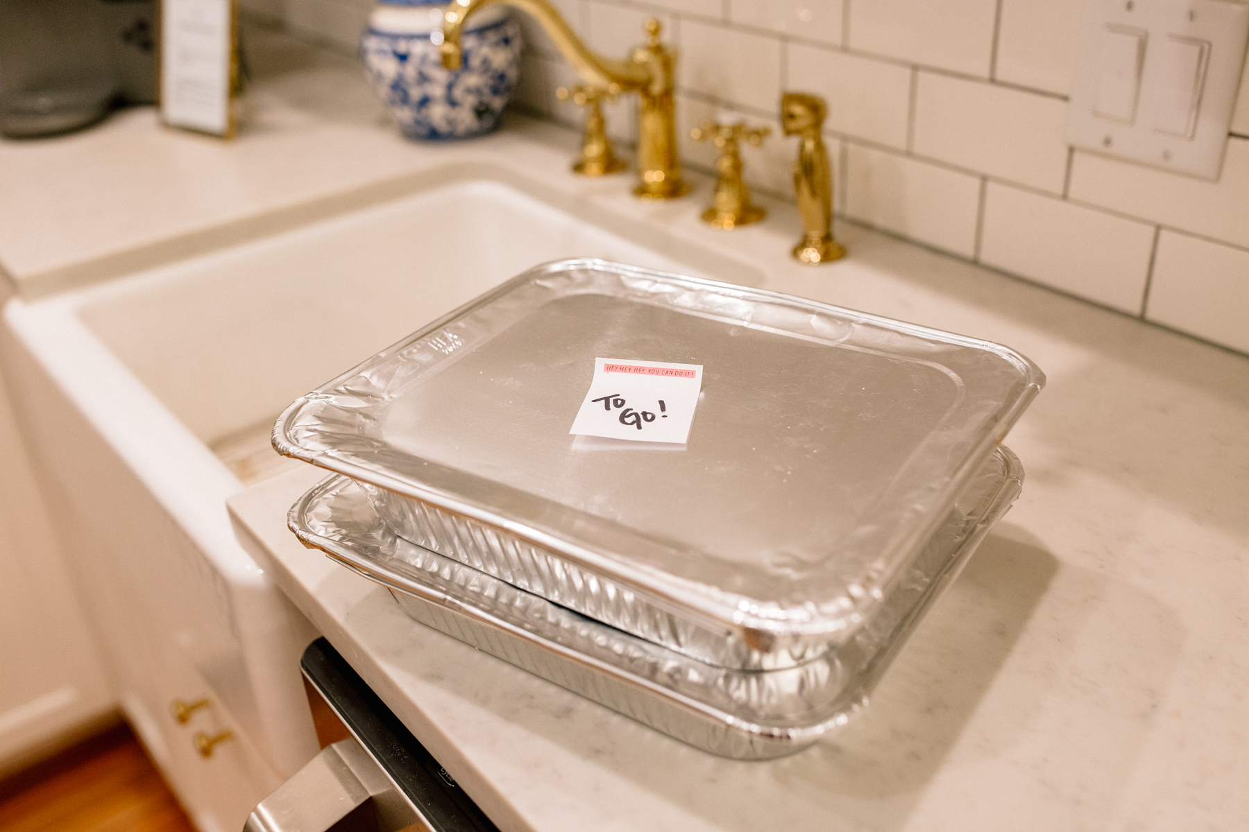 10. Offer to-go boxes to guests