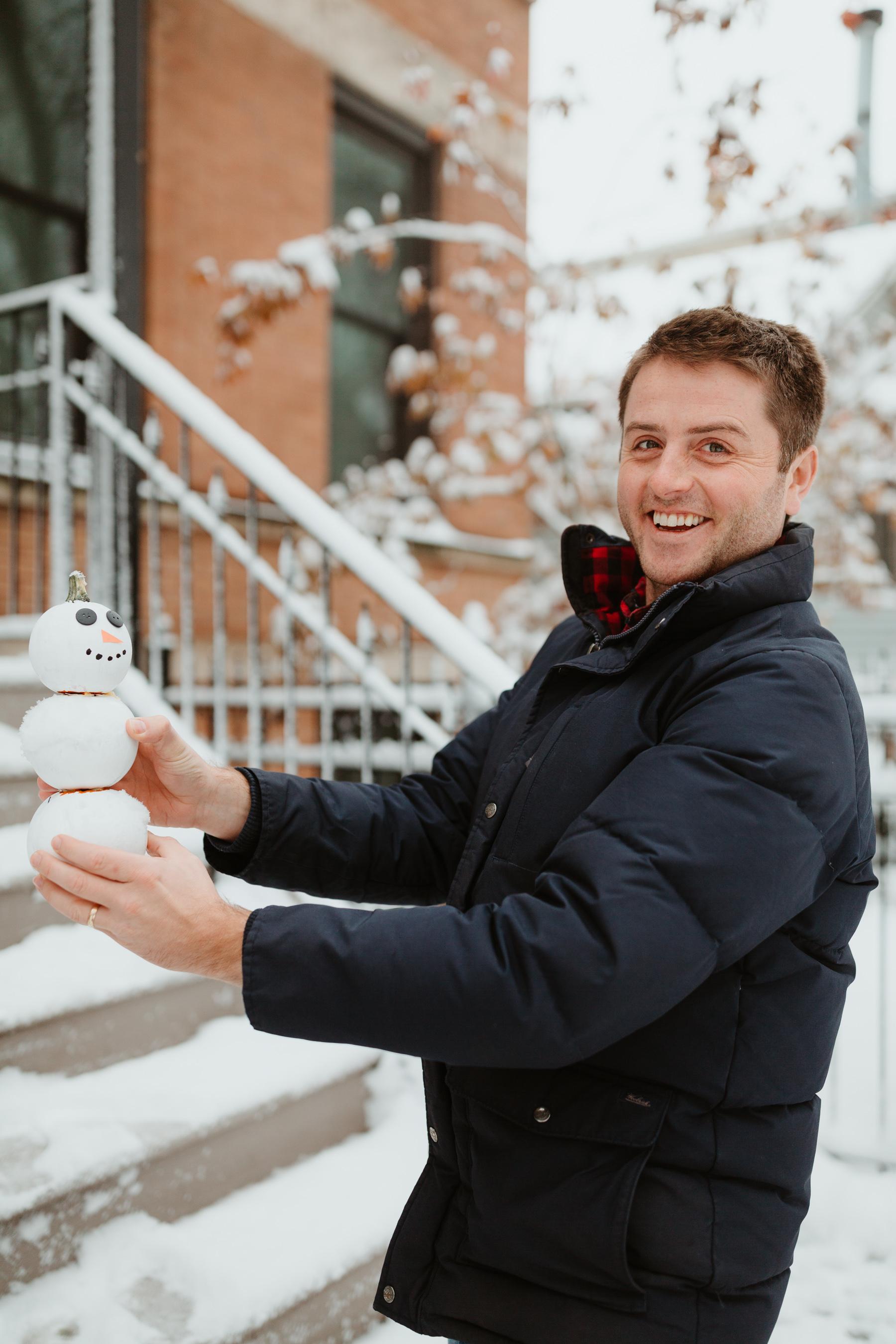 Snowman Pumpkin and Mitch Larkin