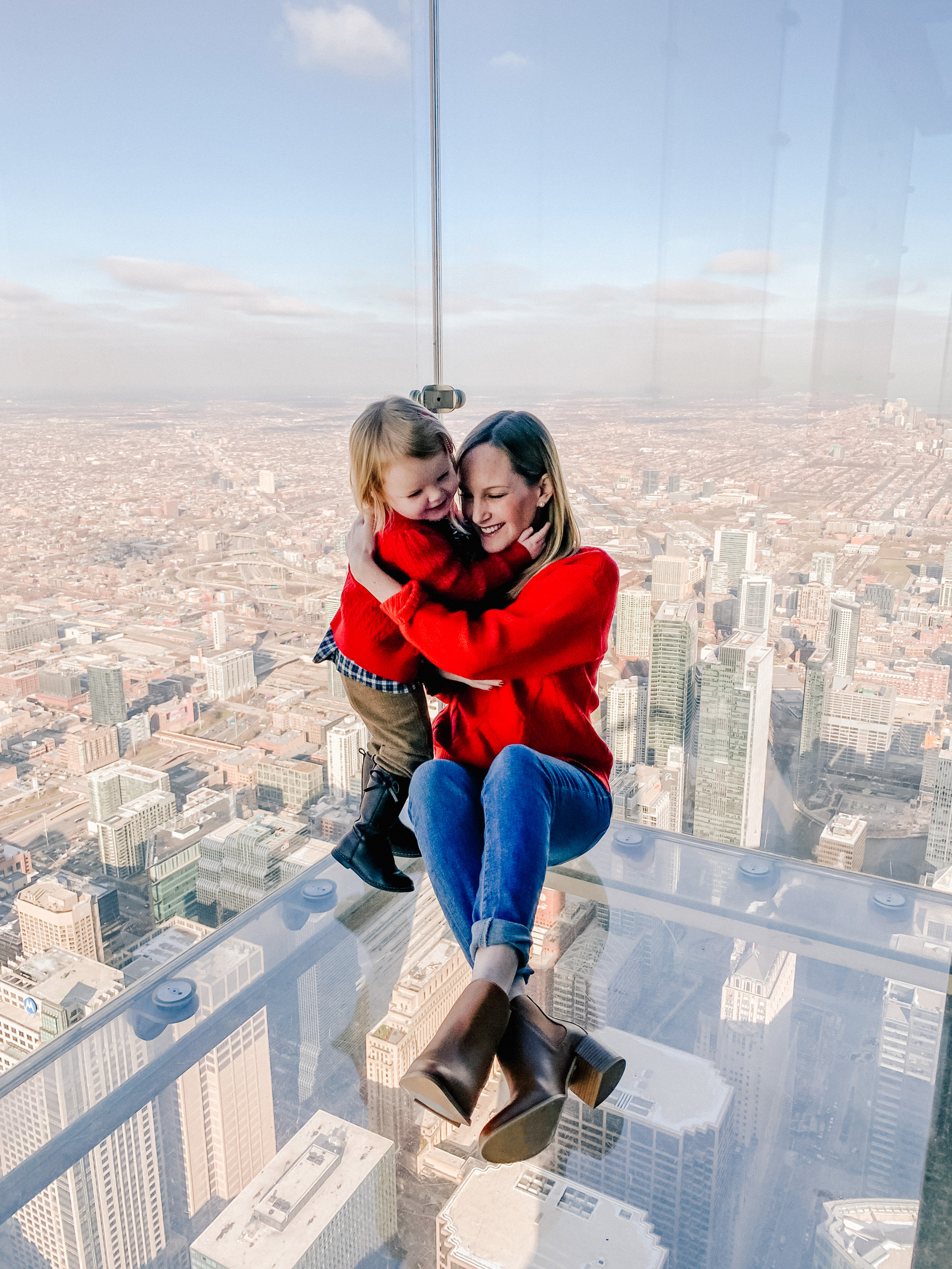 Lakin Family at the Willis Tower Skydeck