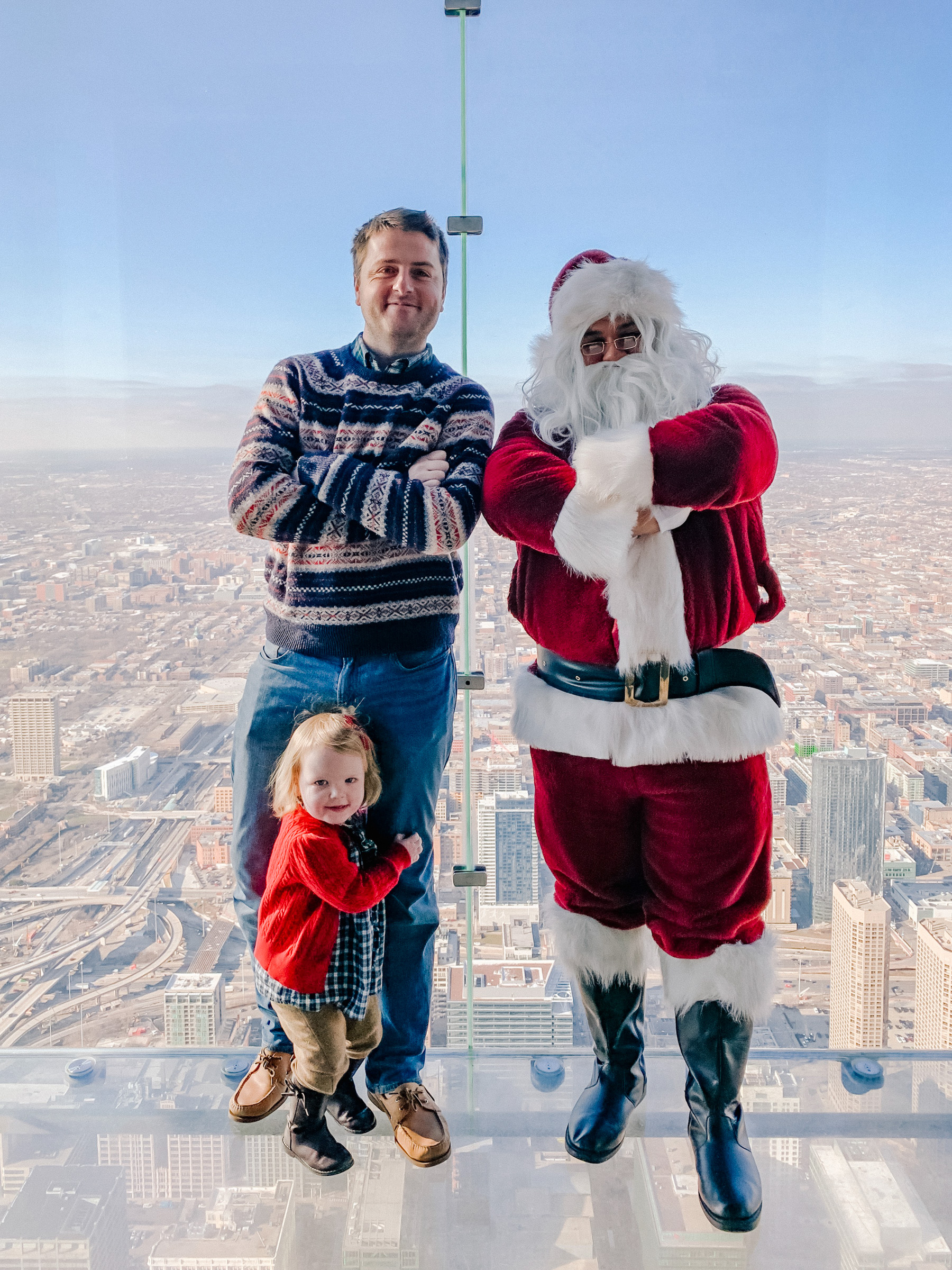 Kelly in the City - Meeting Santa on the Willis Tower Skydeck