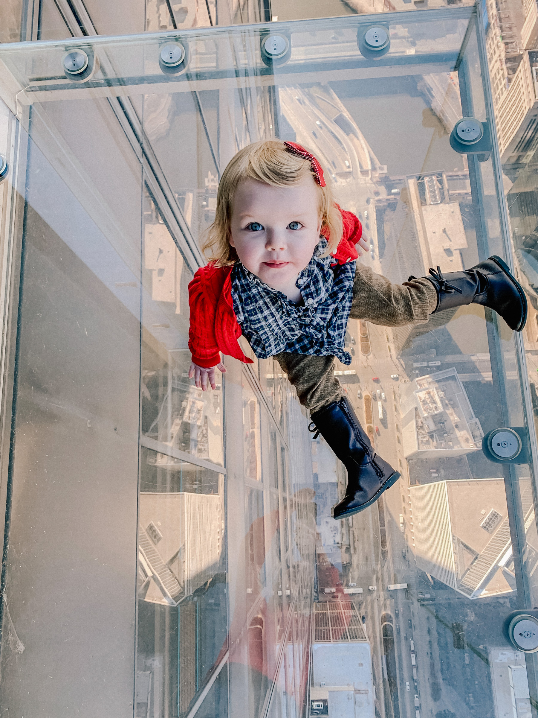 Emma at the Willis Tower Skydeck