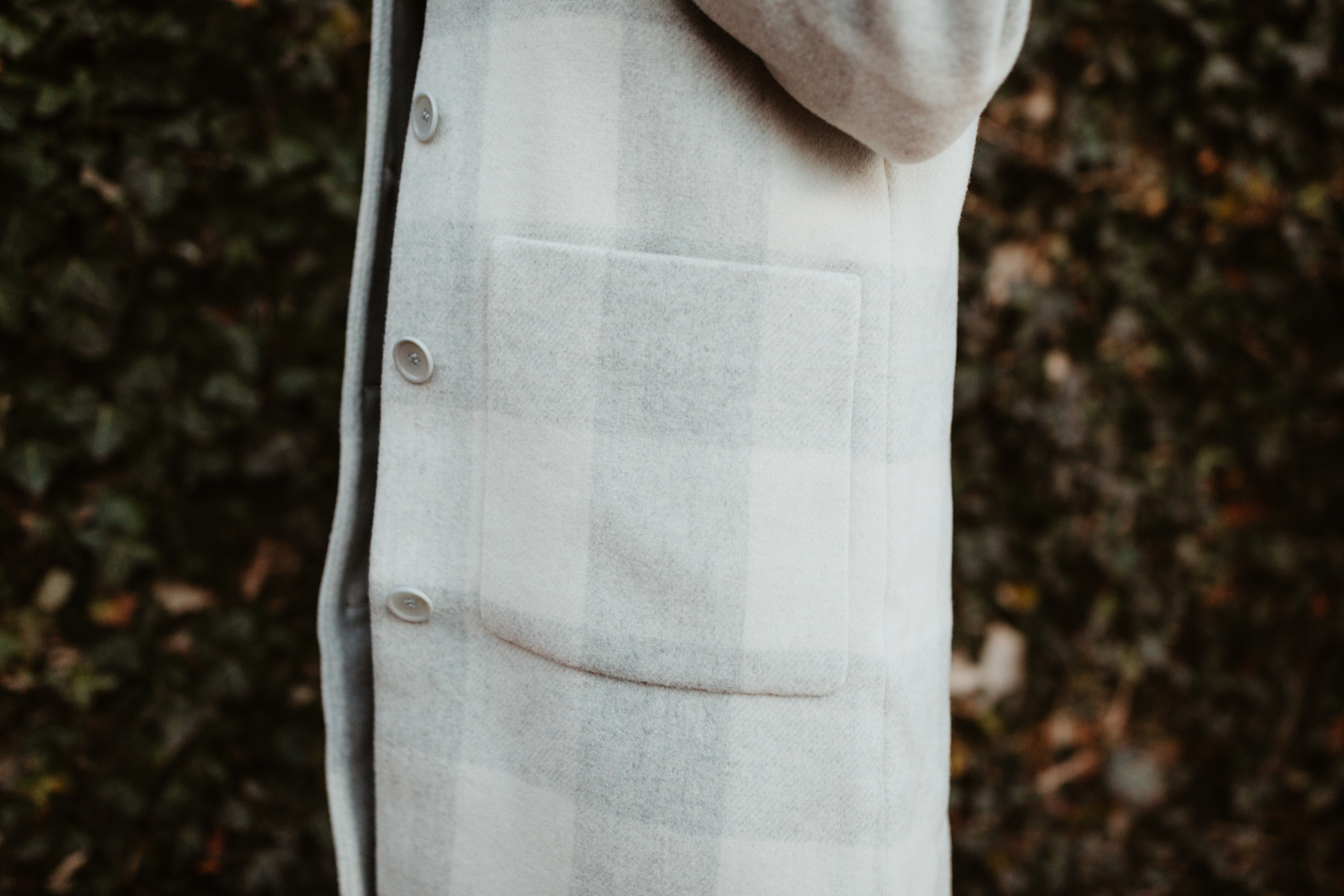 Eileen Fisher Buffalo Check Car Coat