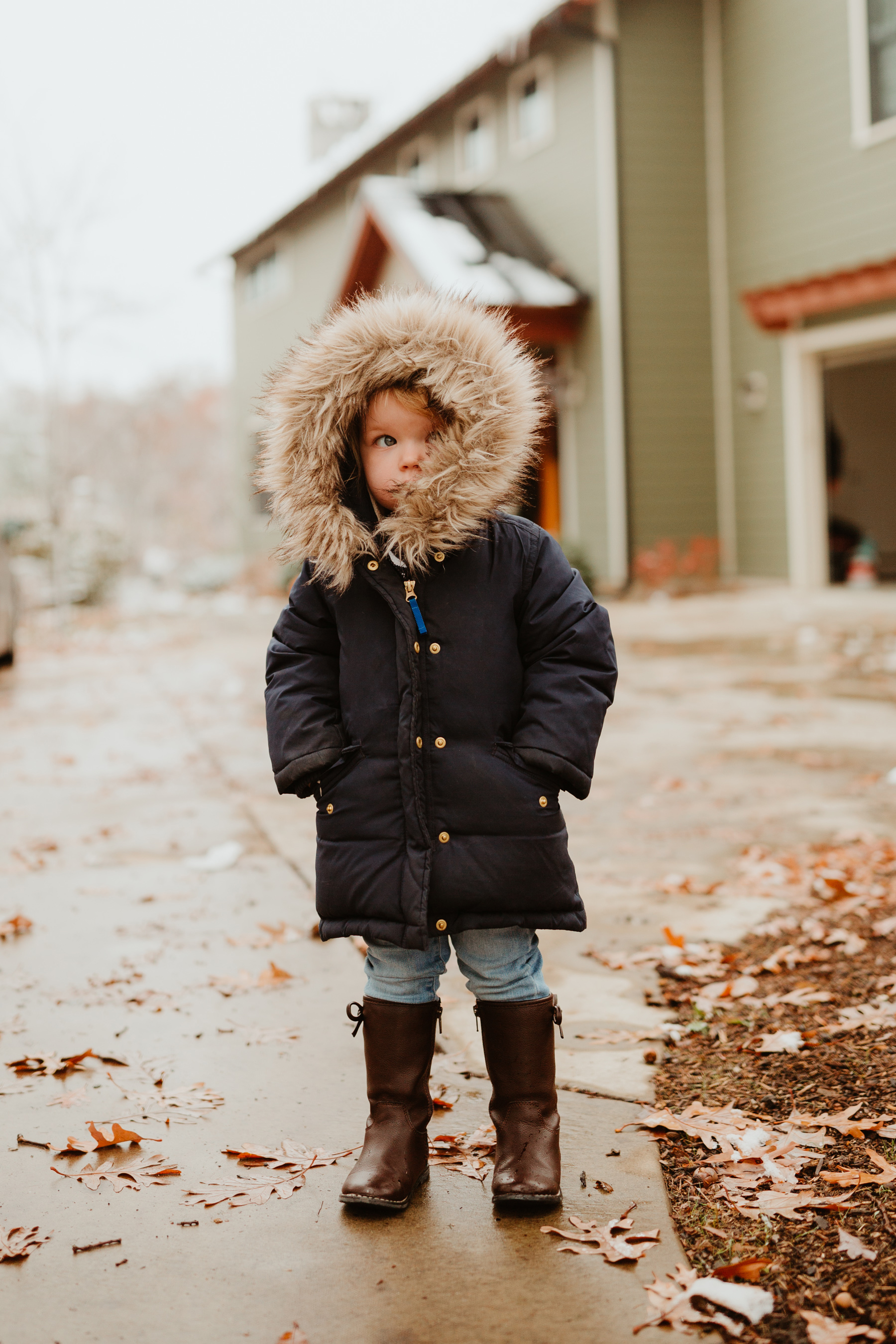 J.Crew Girls' Down Parka in Navy