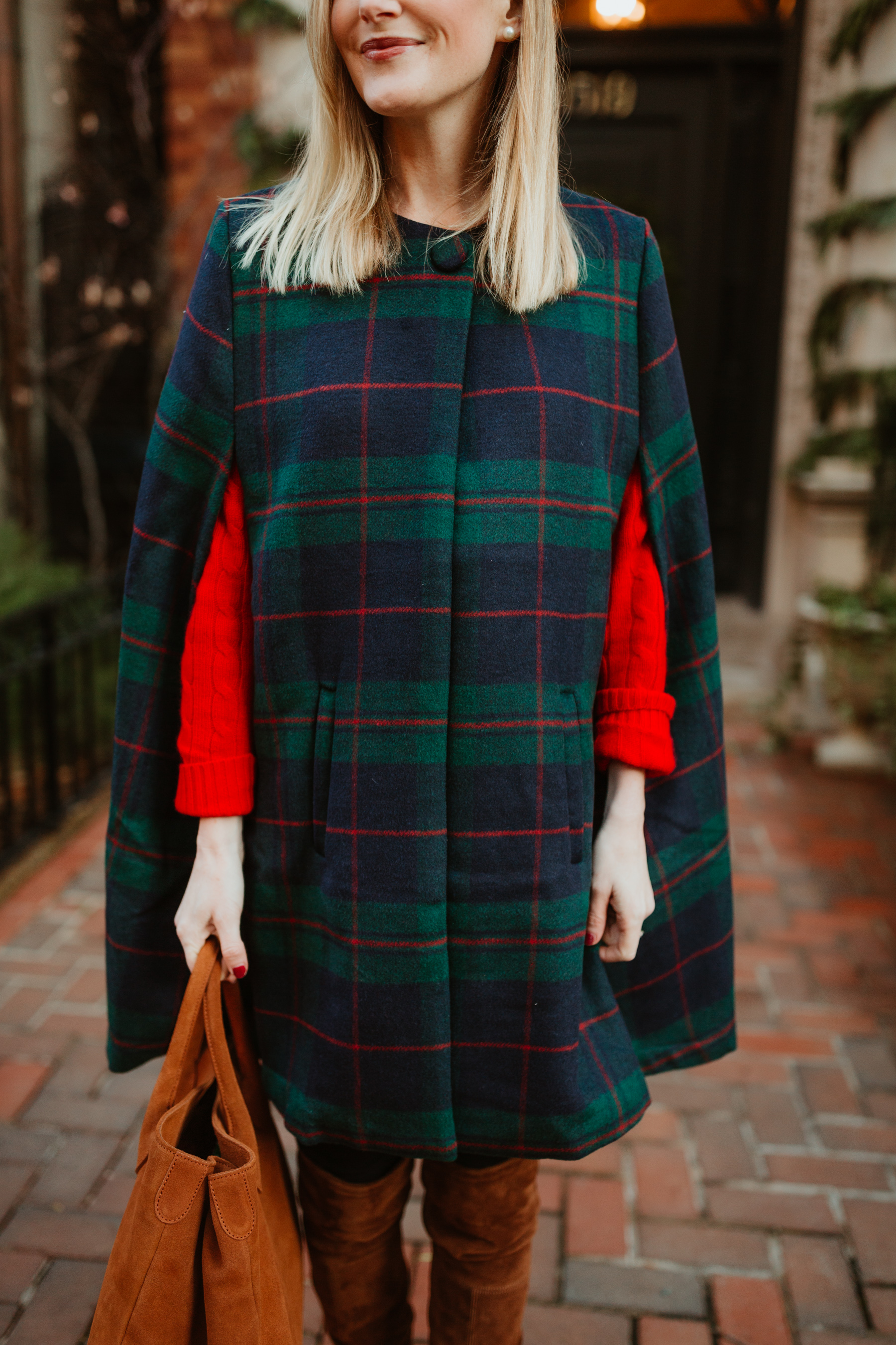 Kelly Larkin is featuring Mark & Graham Plaid Cape