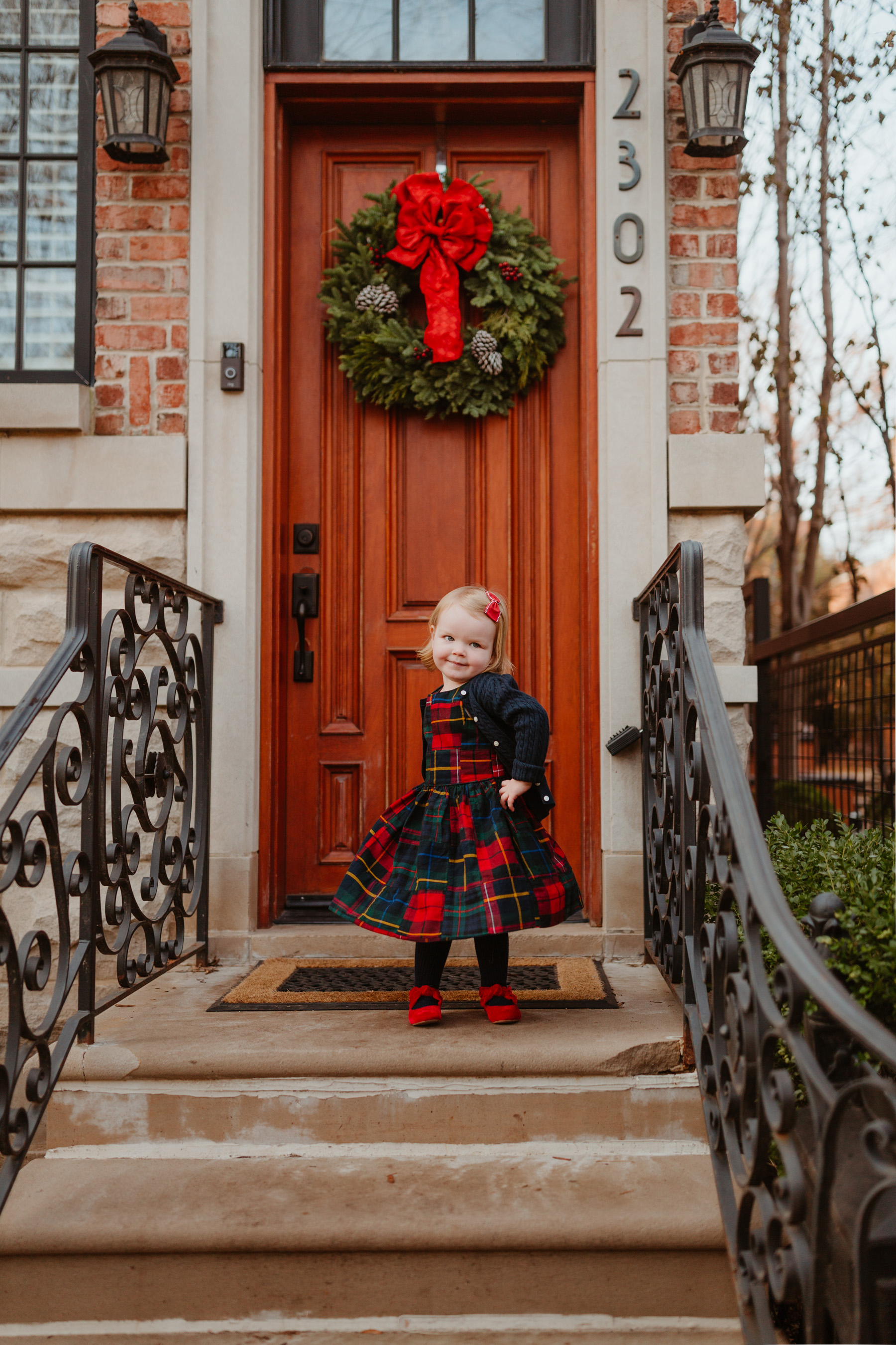 Plaid Dress (This is just the cutest, too! More holiday looks here.)