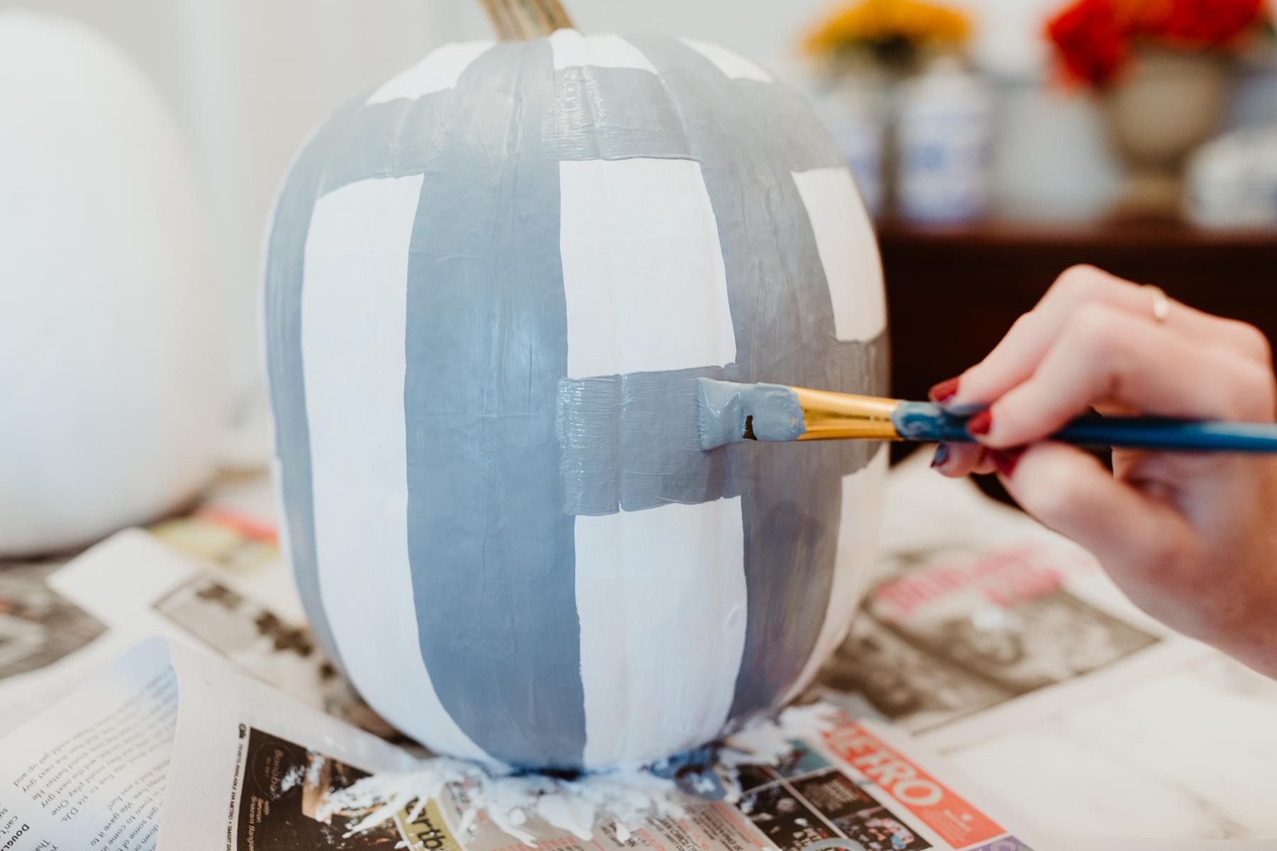 Buffalo plaid pumpkin tutorial