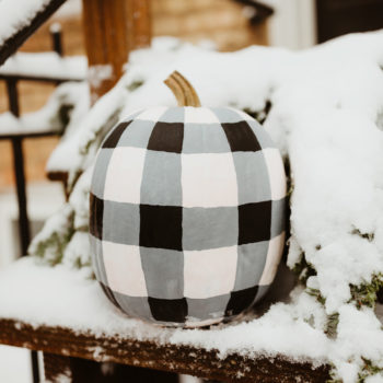 Snowman + Buffalo Plaid Pumpkin Tutorial