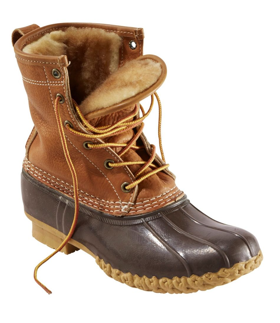 Shearling-Lined Bean Boots