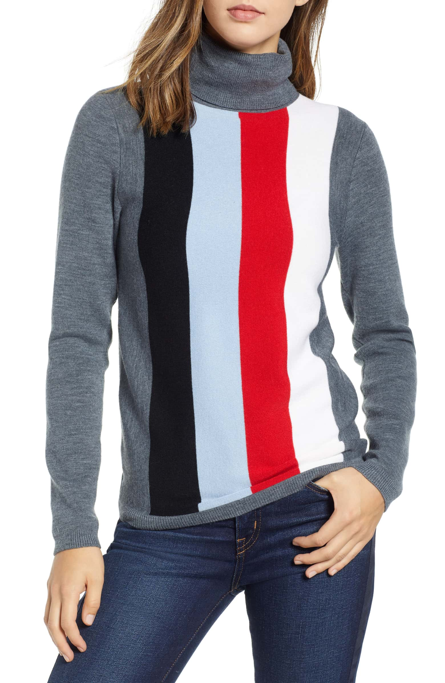 (Brand New with Tags) Nordstrom 1901 Fitted Turtleneck Sweater, Size XS