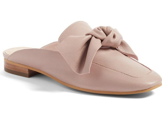 Nordstrom Blush Bow Mules, Size 7.5