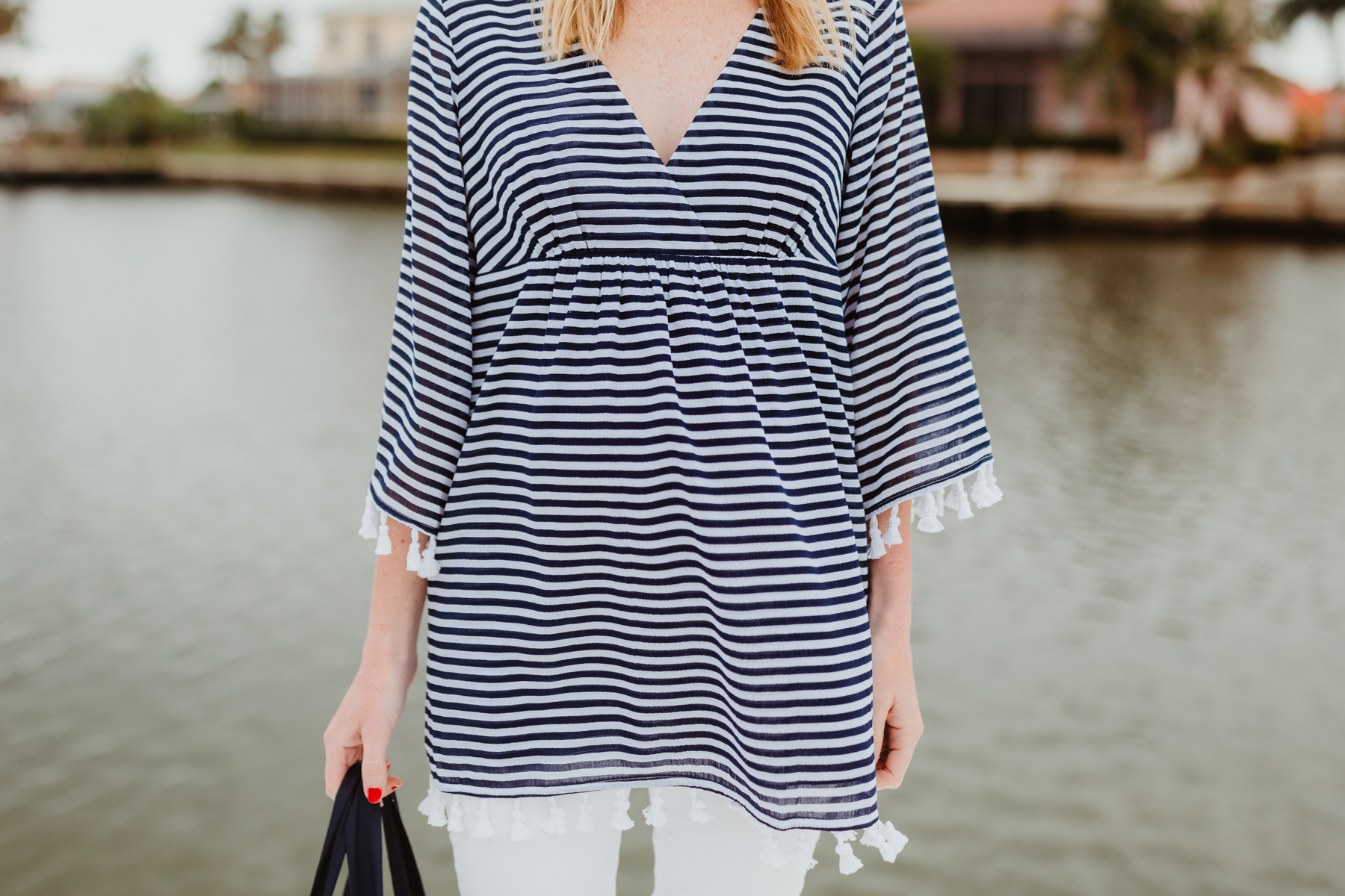 Sail to Sable Crinkle Cotton Tunic Top