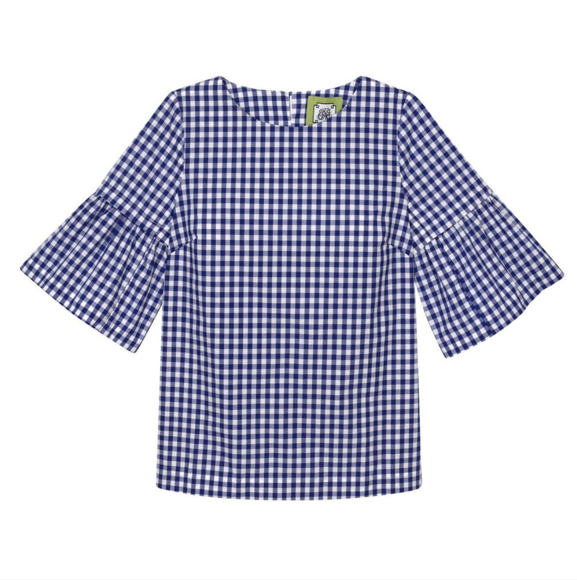 (New with Tags) Elizabeth McKay Gingham Top, Size XS