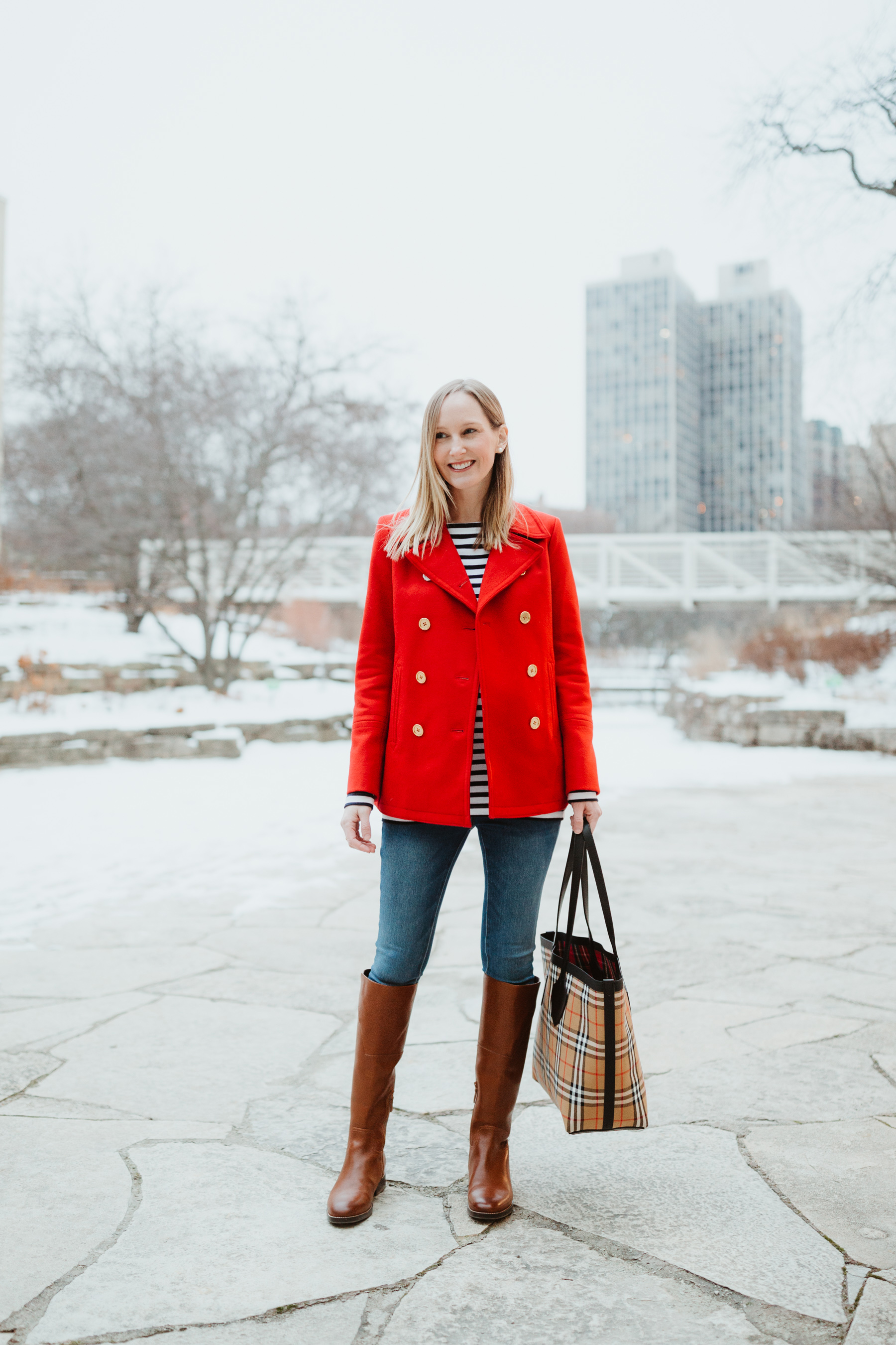 9f74fa3997e Preppy Red Peacoat   Classic Winter Staples