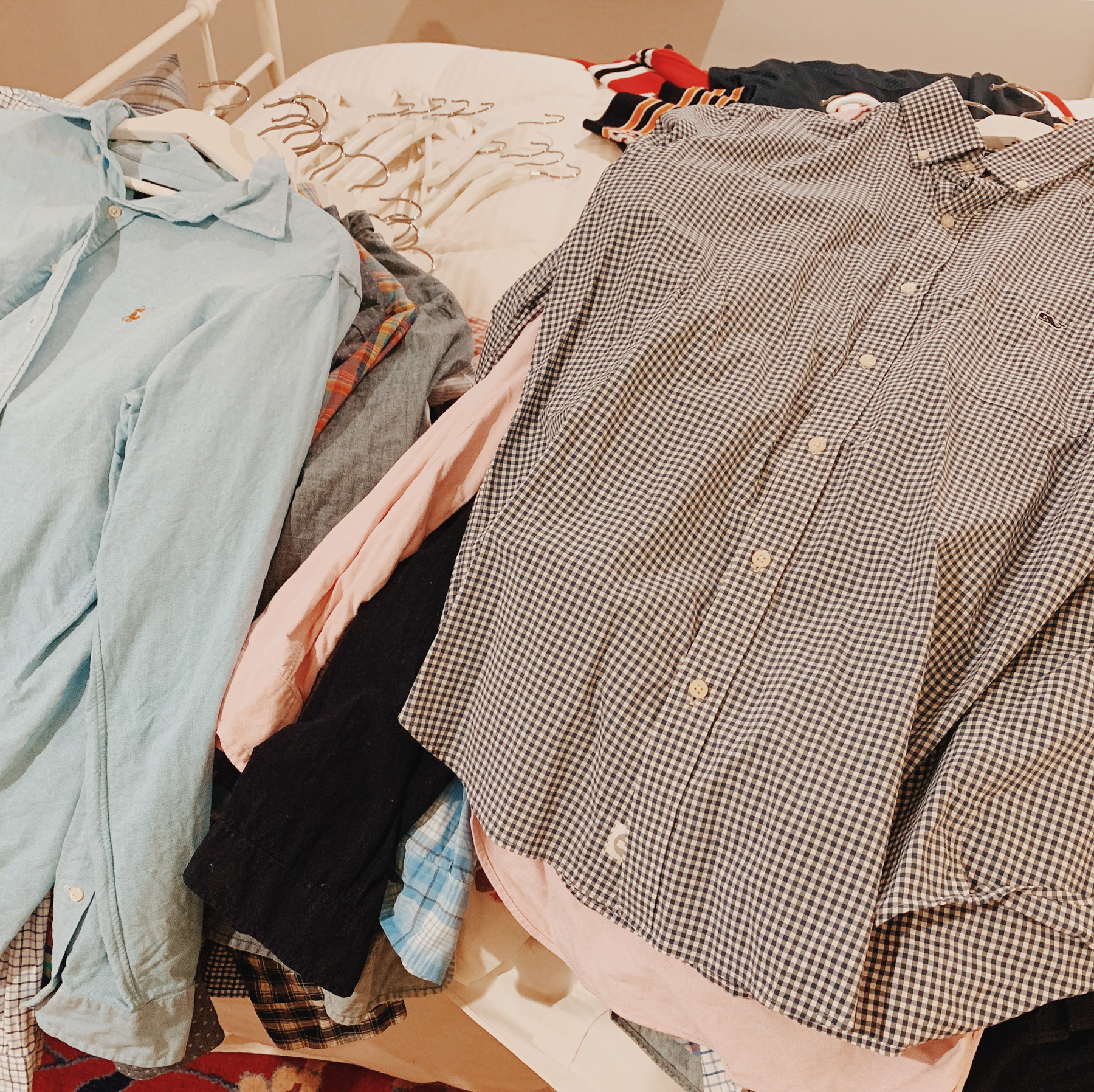 The contents of Mitch's closet.