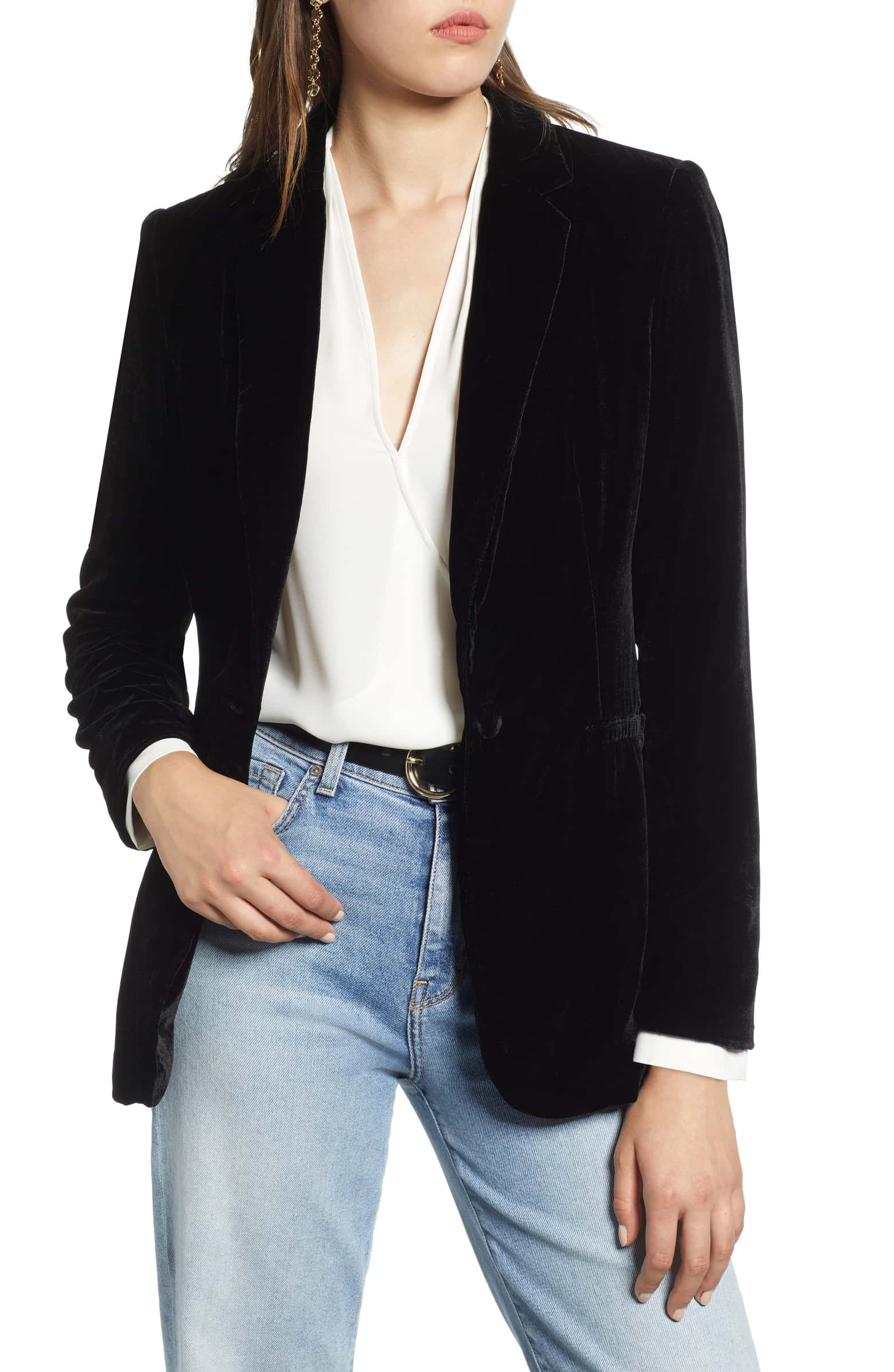 (New with Tags -- Sample) Halogen Velvet Blazer, Size XS