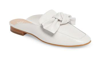 Nordstrom White Bow Mules, Size 7.5