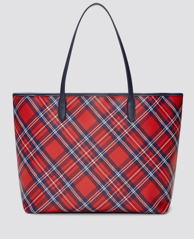 (New with Tags) Draper James Plaid Tote