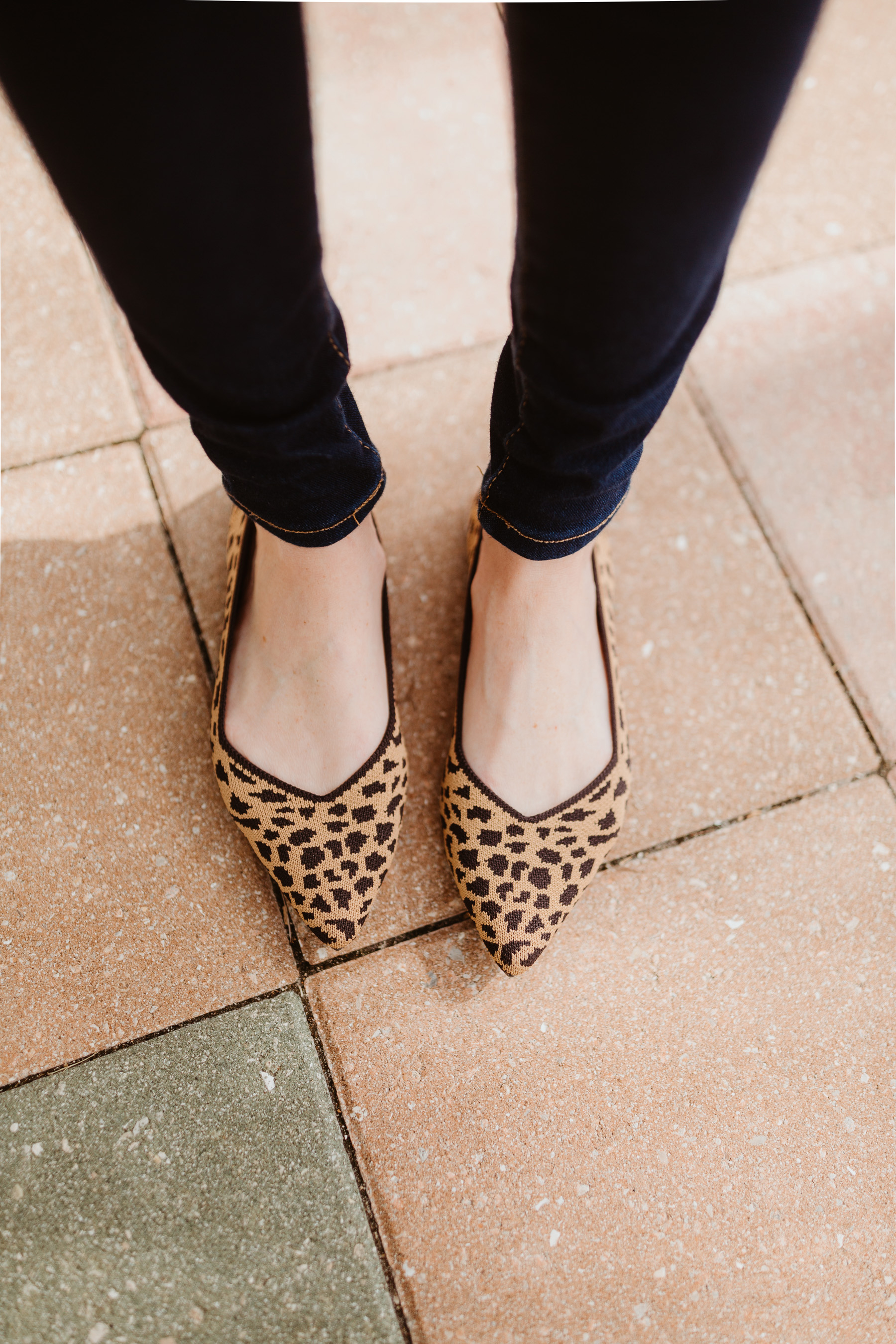 Kelly Larkin is featuring Rothy's Pointed Leopard Flat