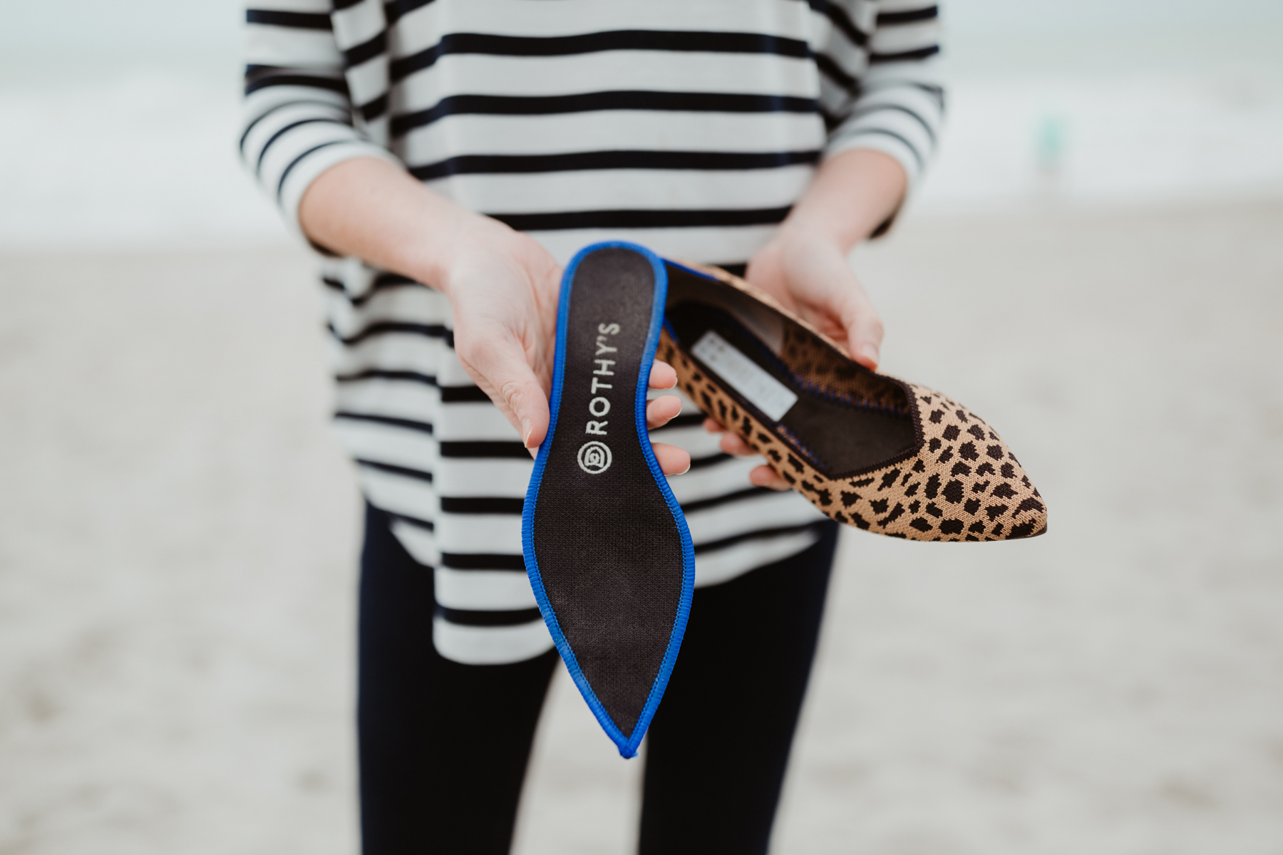 Rothy's Pointed Leopard Flat