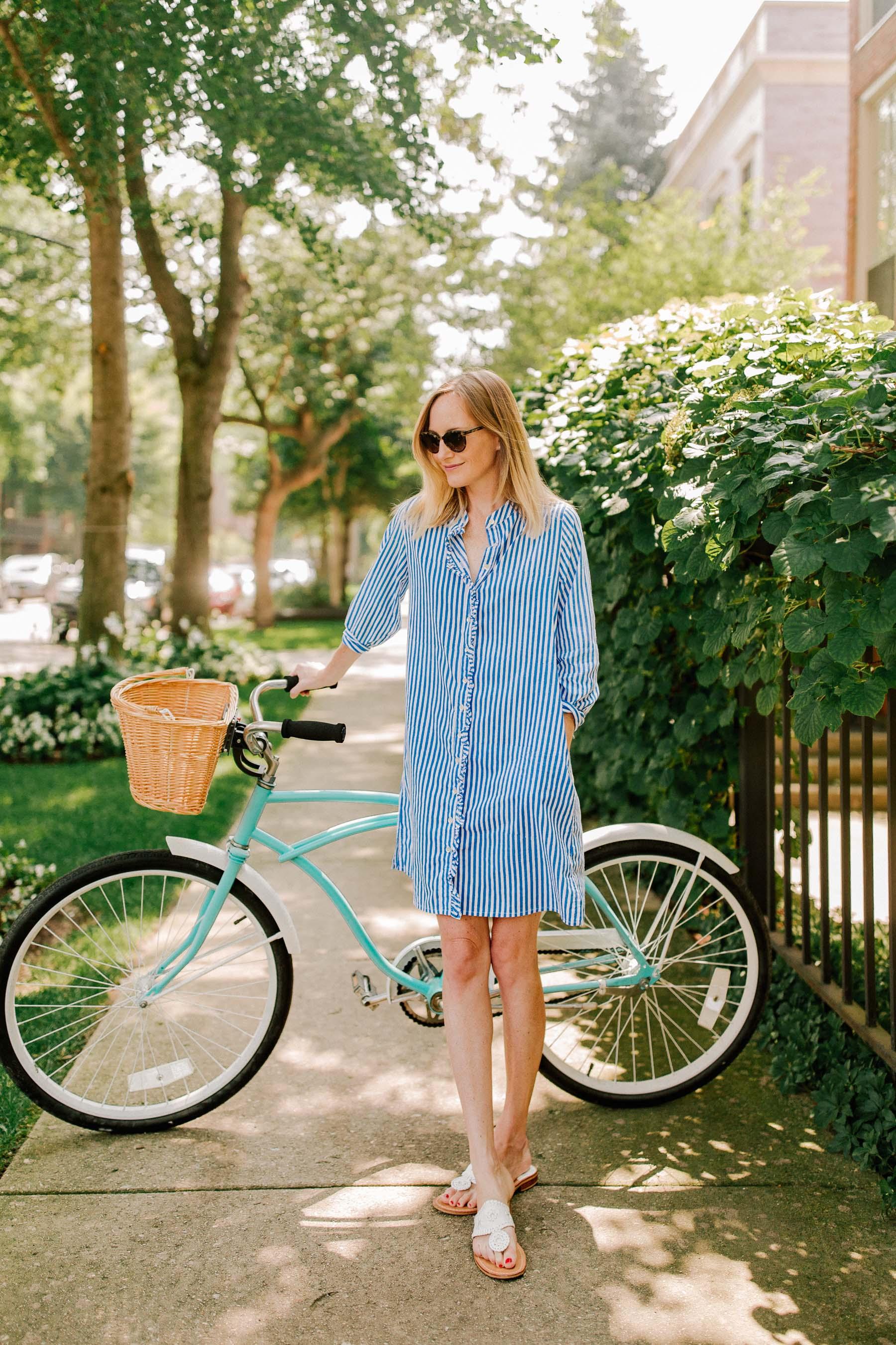 Ruffled Striped Dress - Kelly Larkin