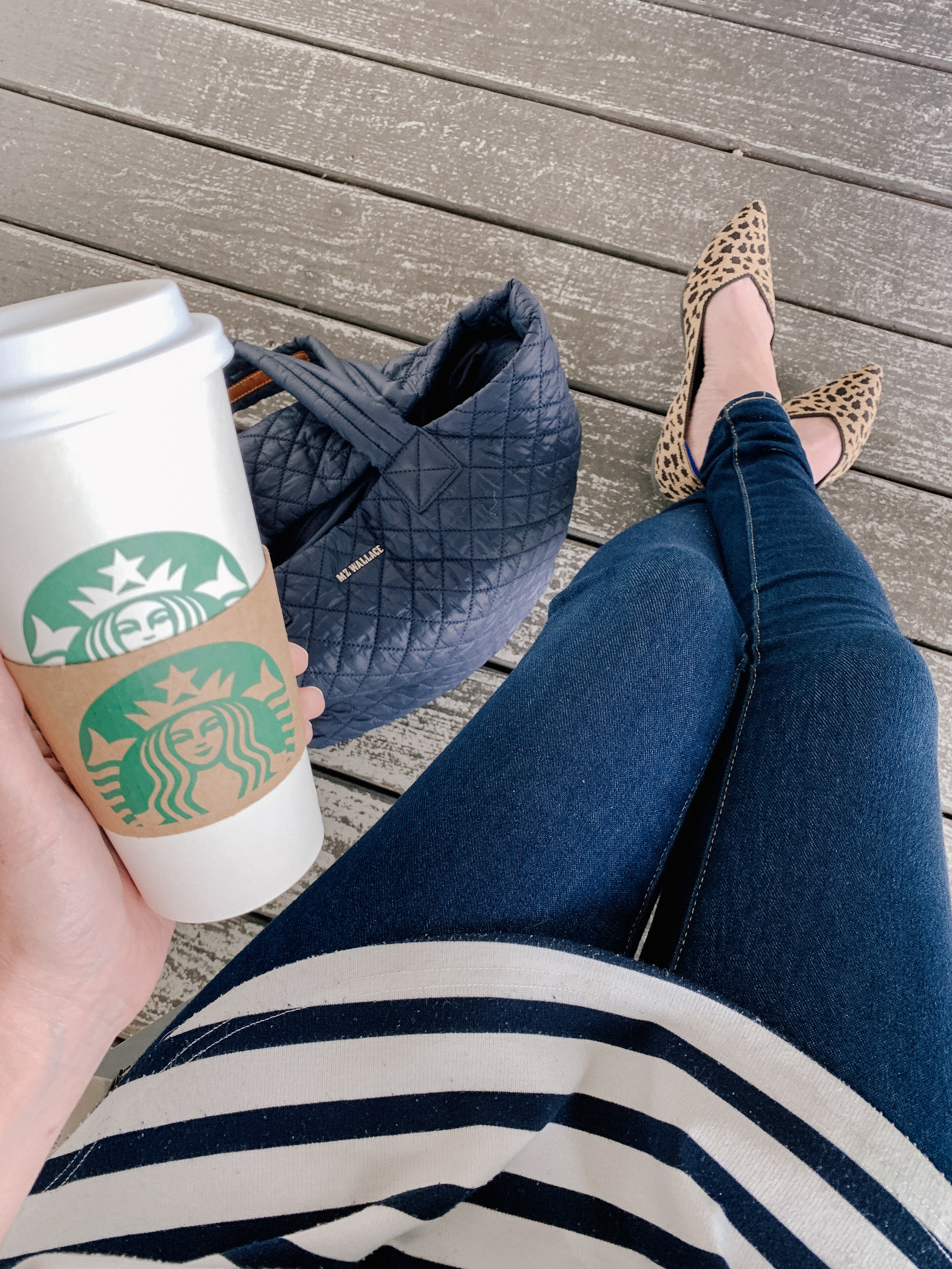 Starbucks & MZ WALLACE & Rothy's shoes