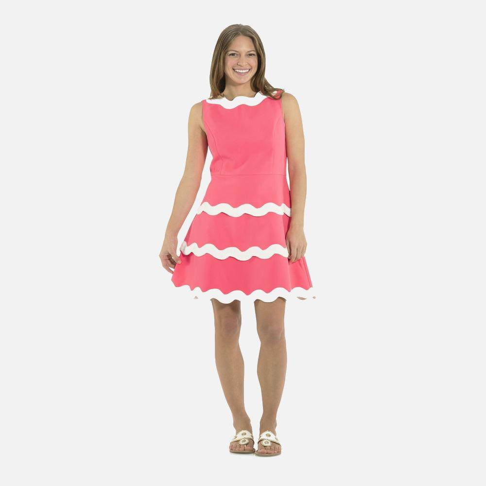 (New with Tags) Sail to Sable Pink Ric Rac Dress, Size 2
