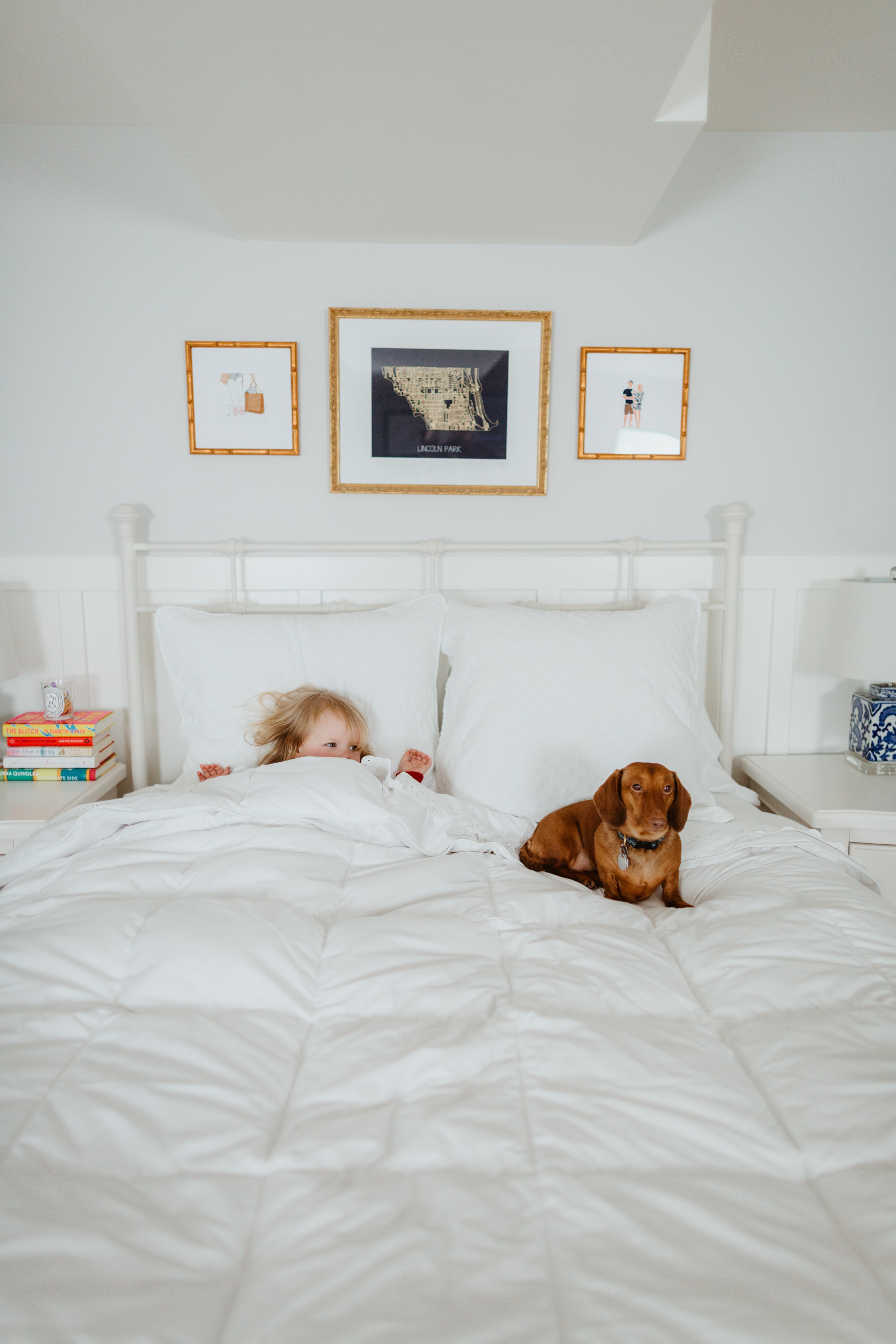 Noodle and Emma Larkin - The oversized, extra-warm down comforter - The Company Store - White Sale