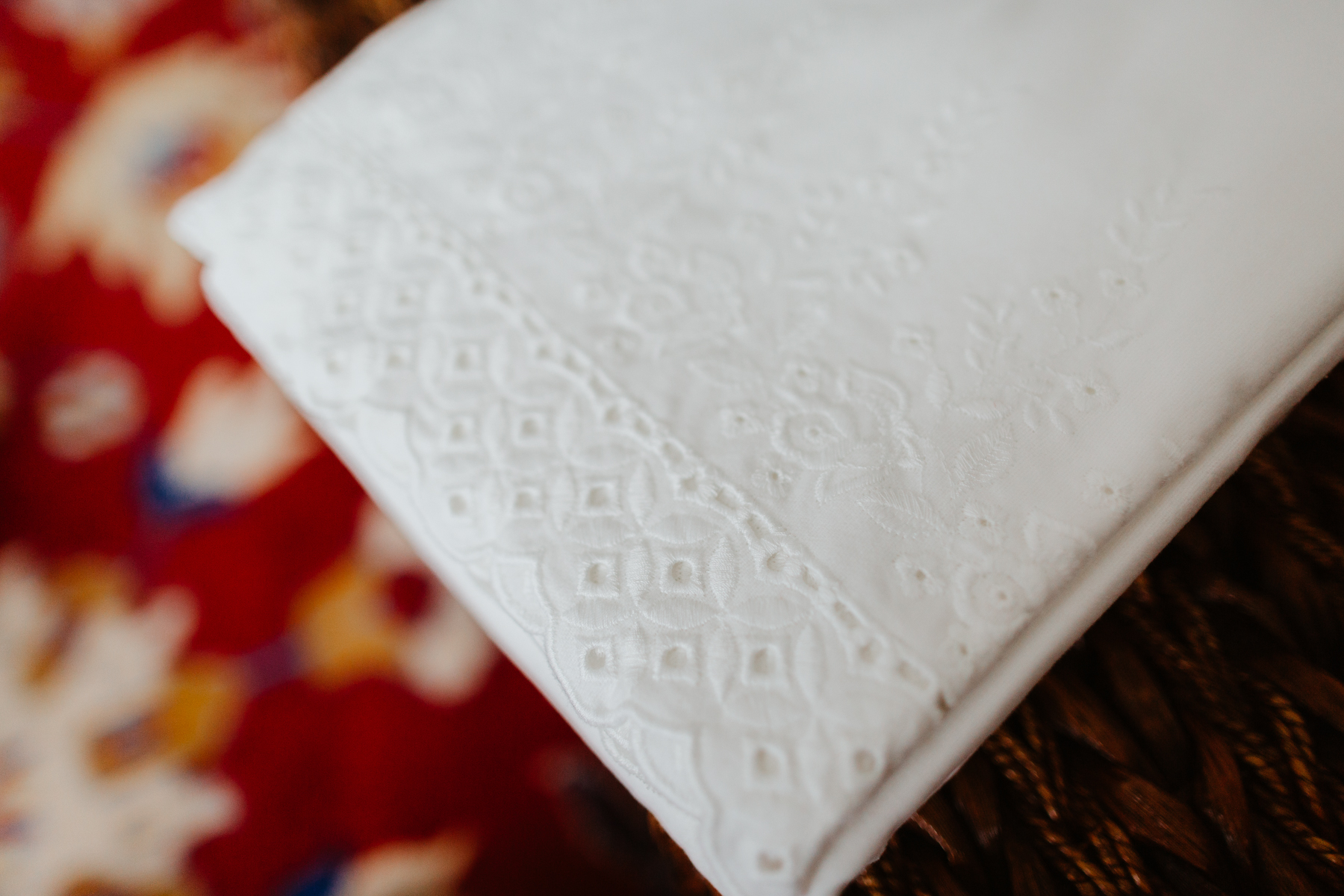 The flannel lace sheets and pillowcases - The Company Store - White Sale