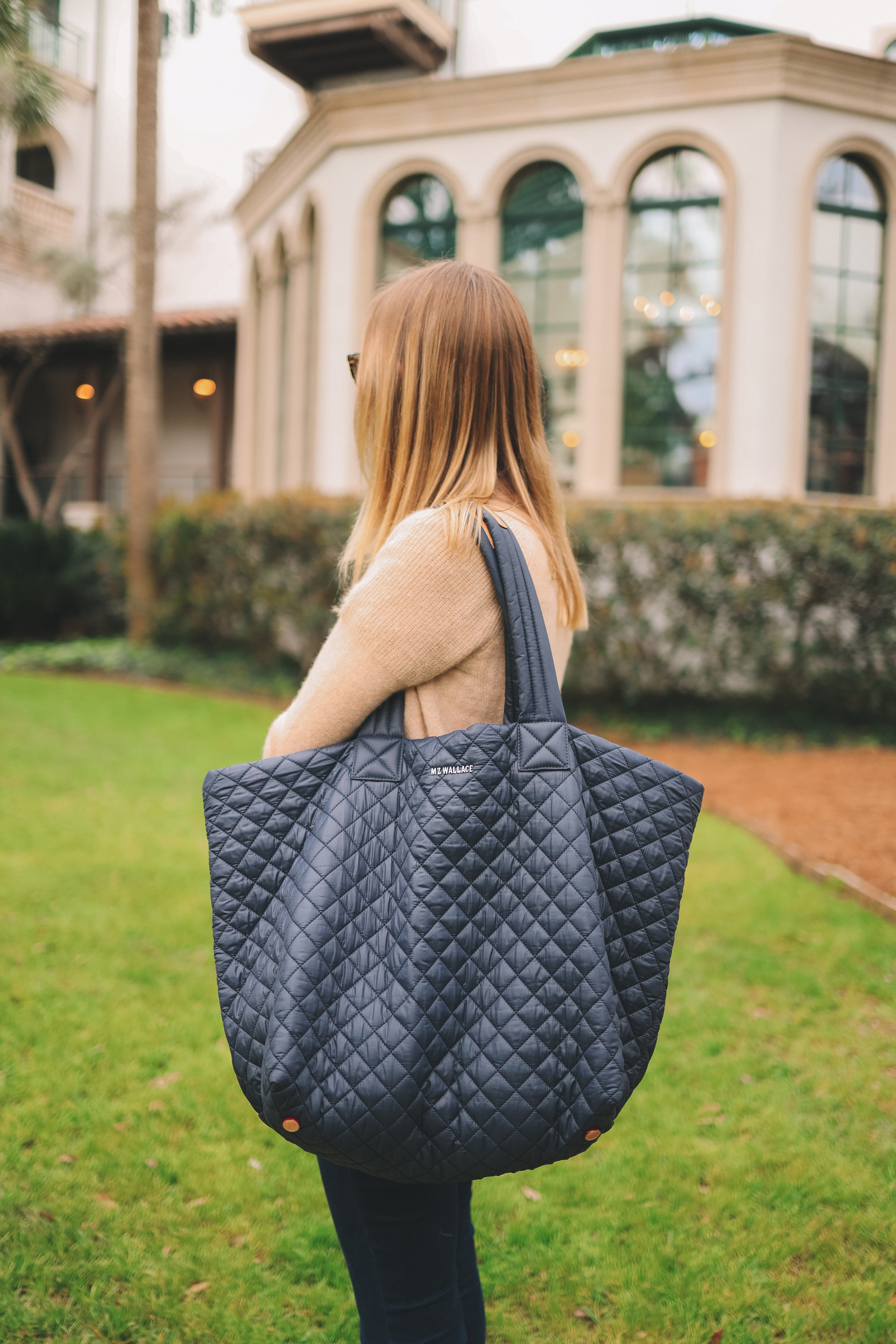 Large Navy MZ Wallace Tote
