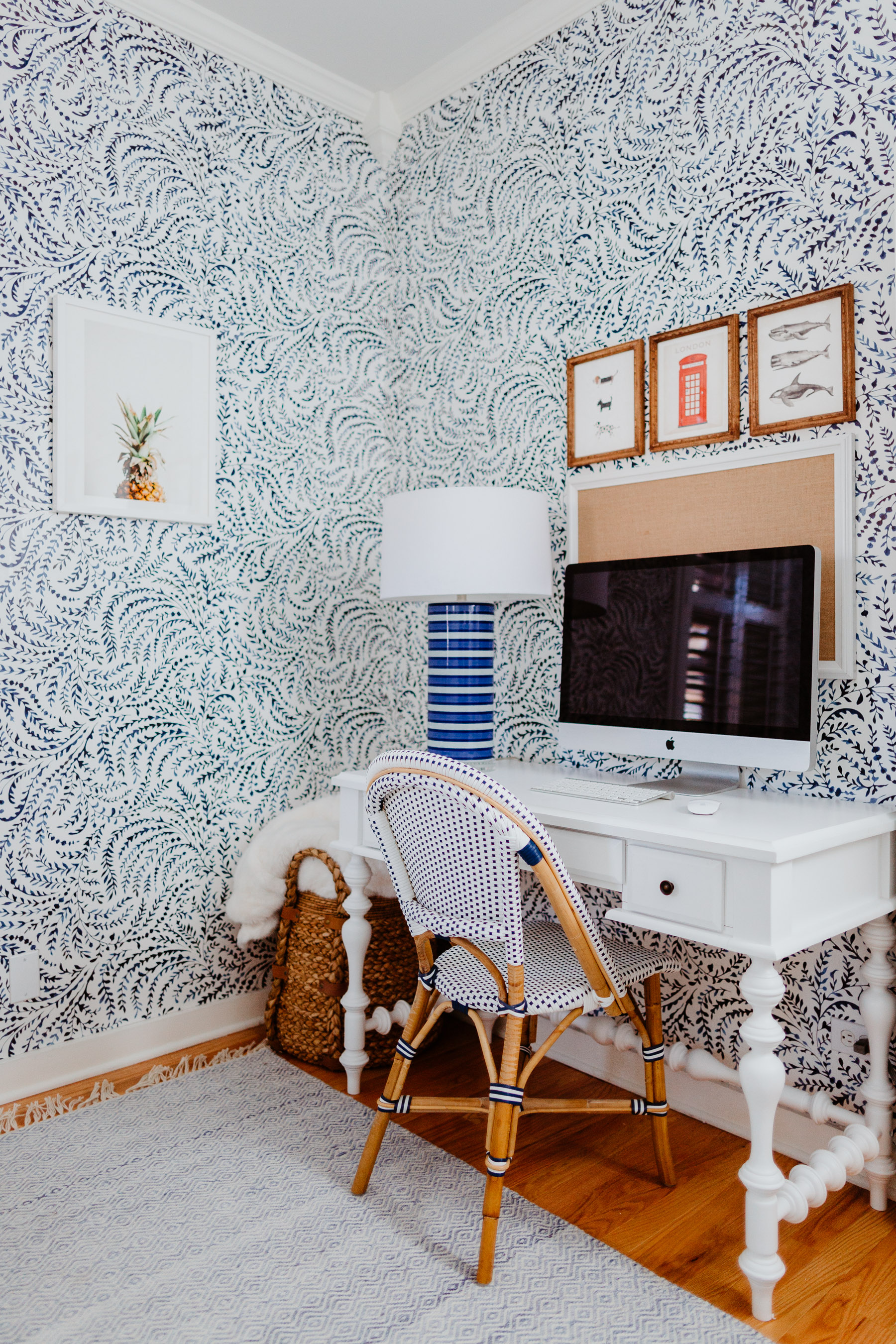 Serena Lily Wallpaper Inside My Home Office Kelly In
