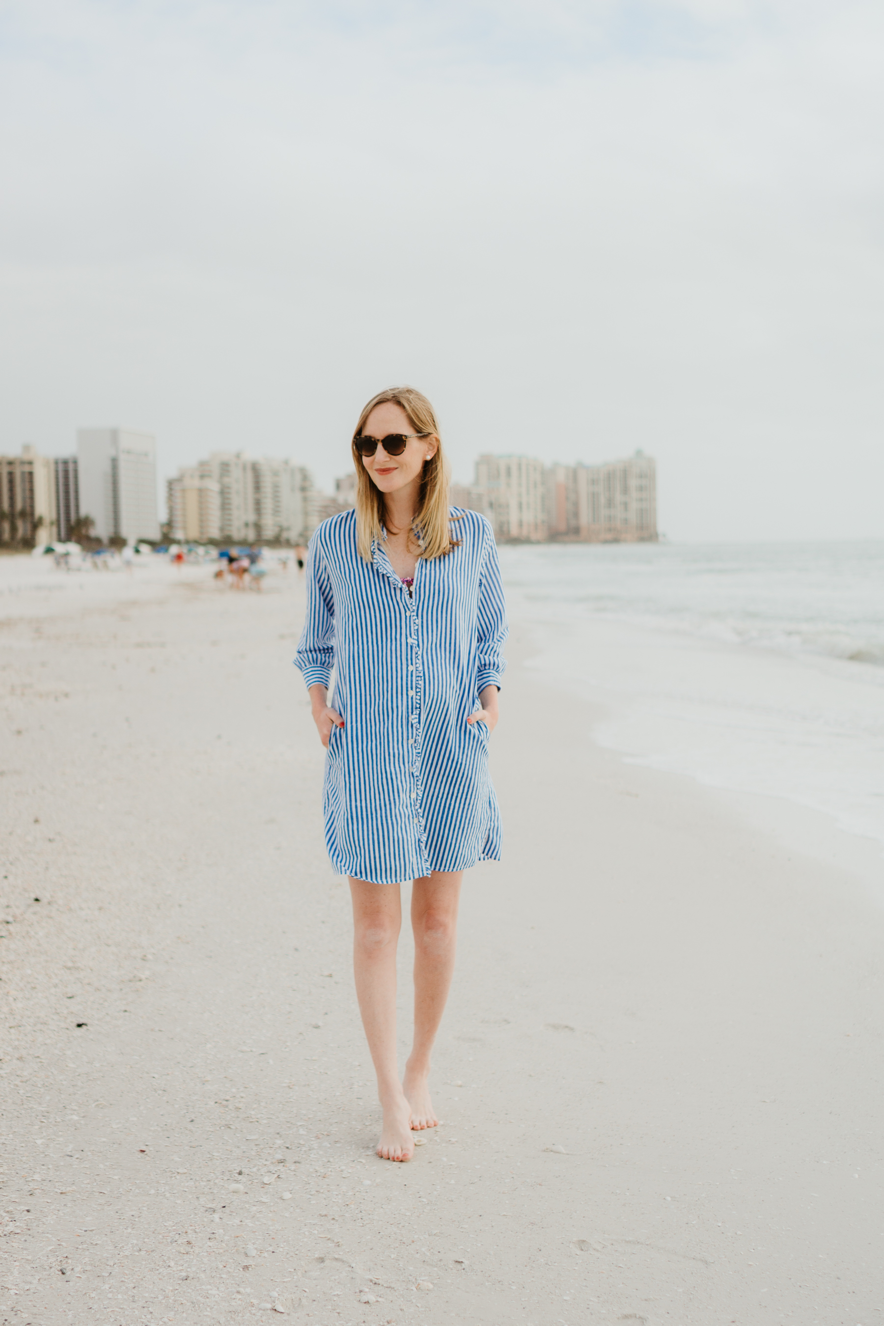 Kelly Larkin on the first day of our trip to Marco Island!