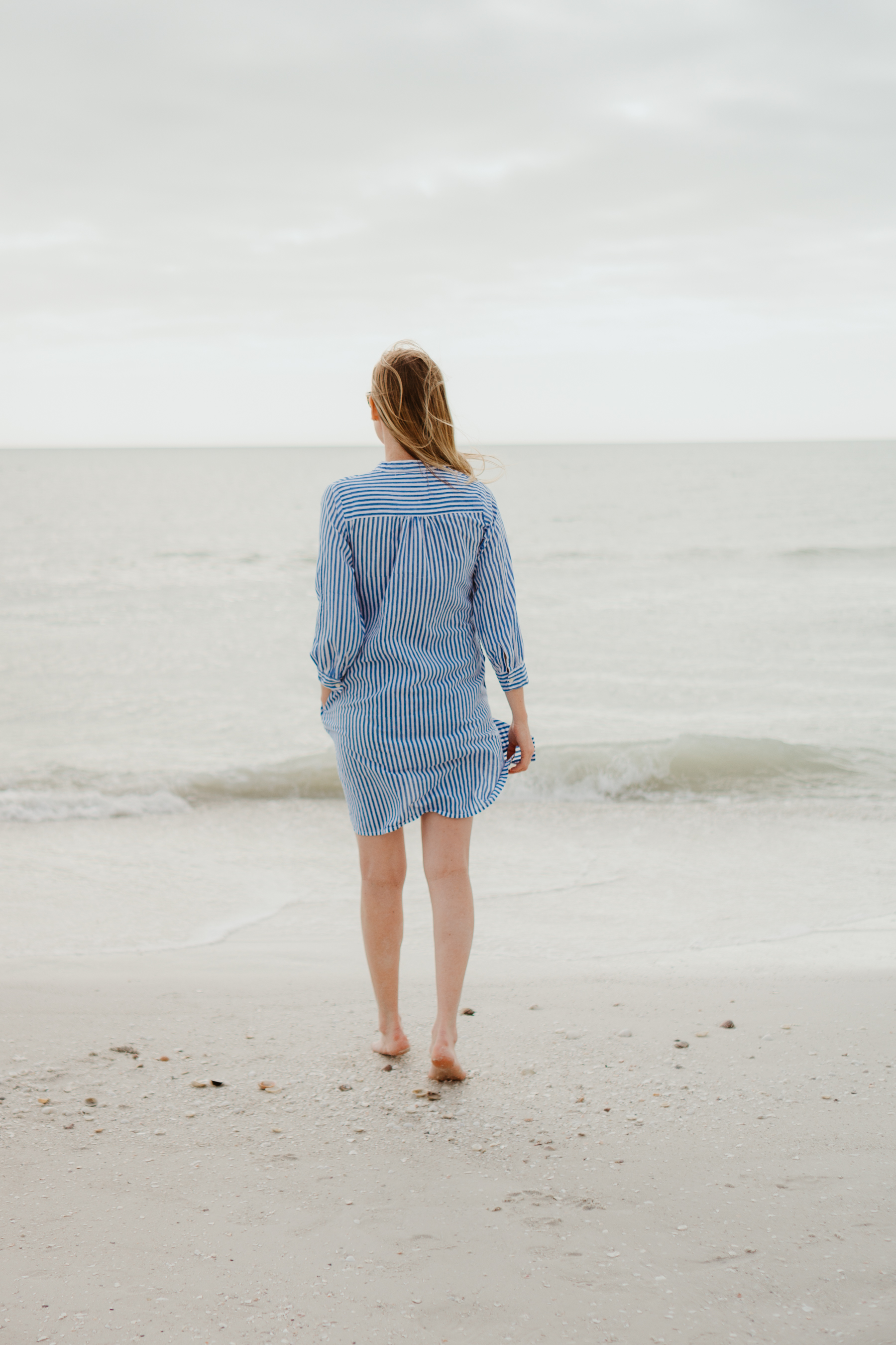 Kelly Larkin at the beach