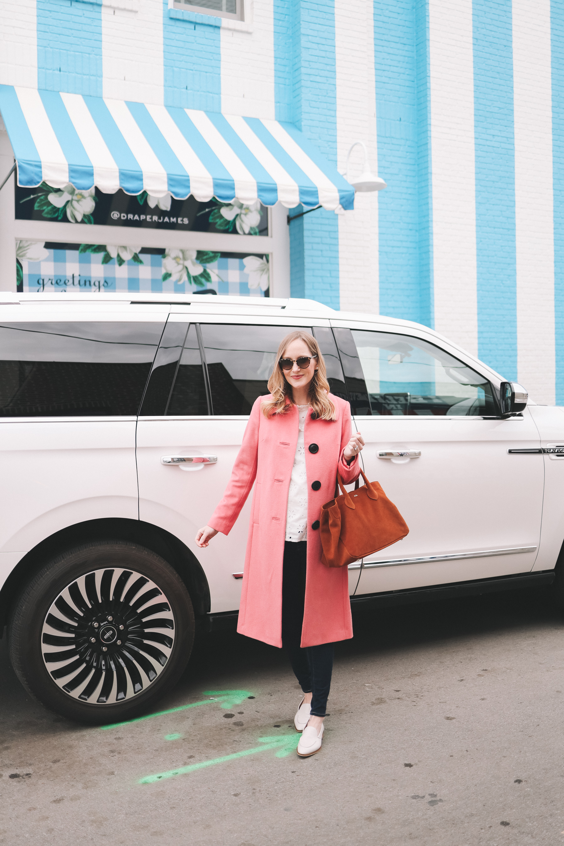 Boden Conwy Coat in Pink