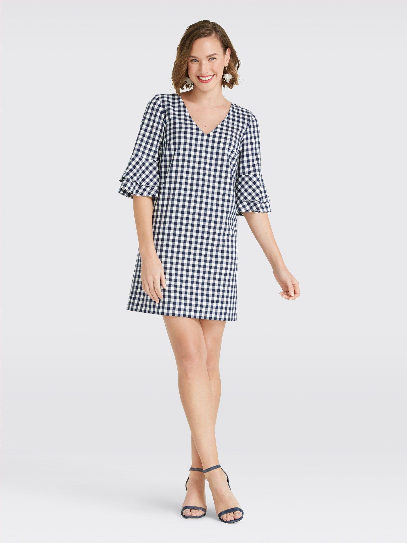 Navy Gingham Dress