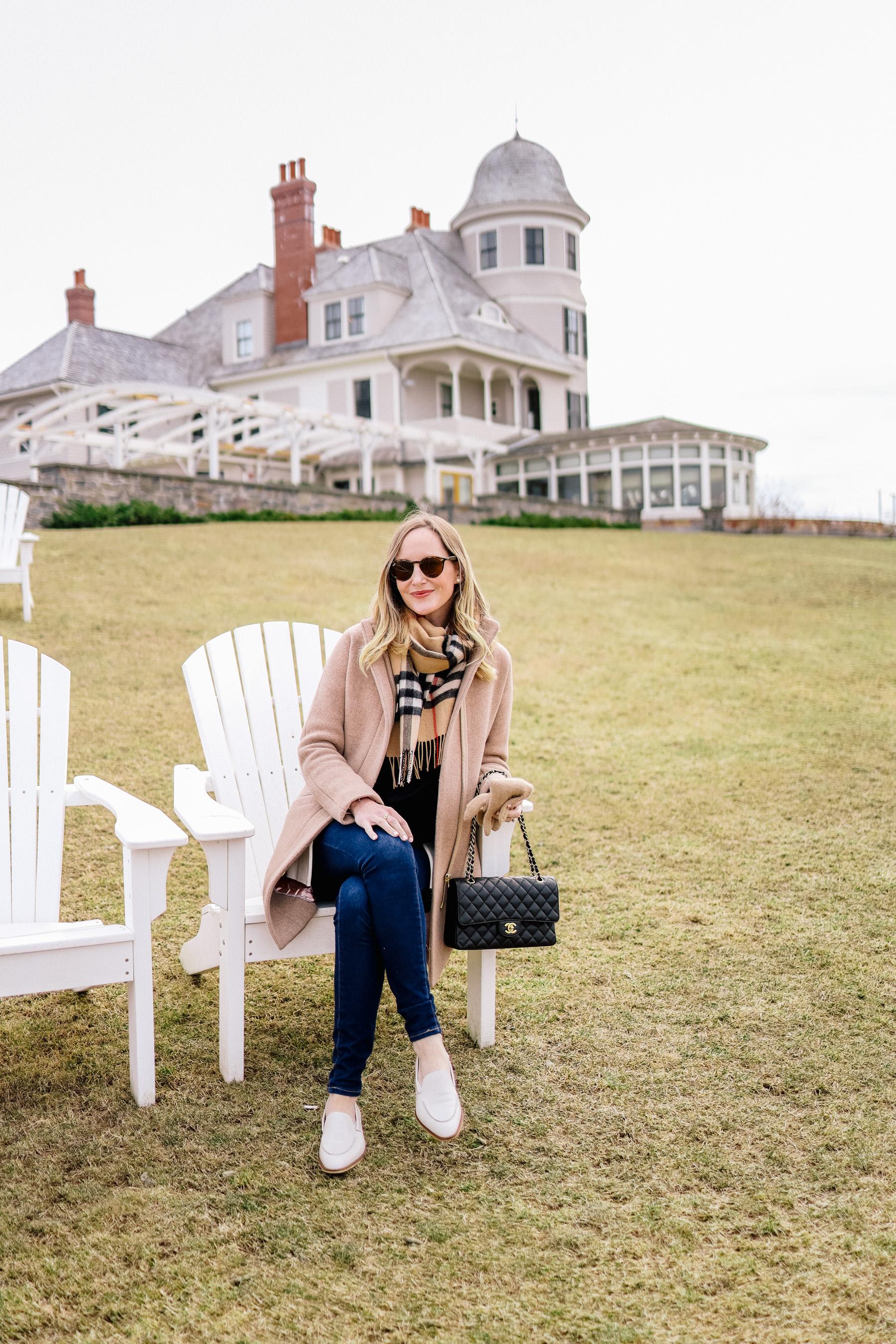 Kelly in Newport, Rhode Island - Lunch at Castle Hill Inn
